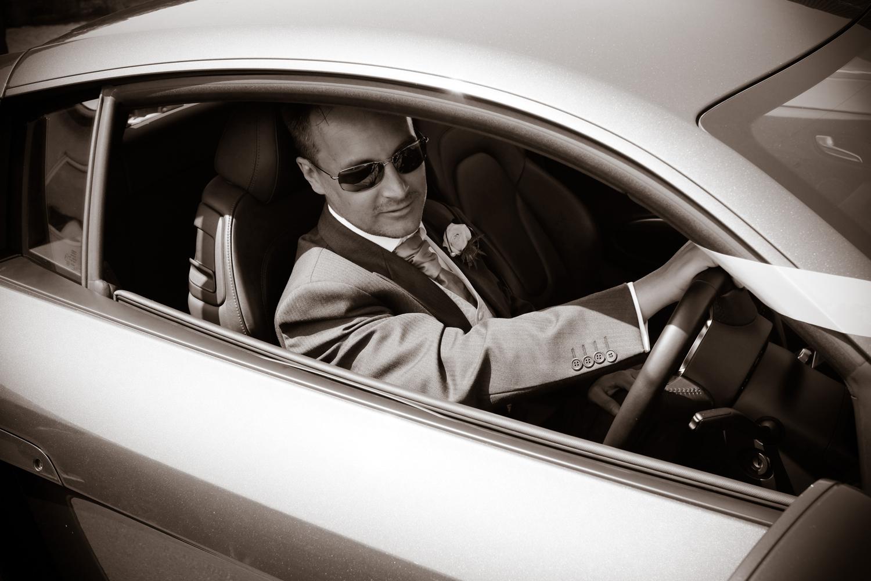 Cool guy in car