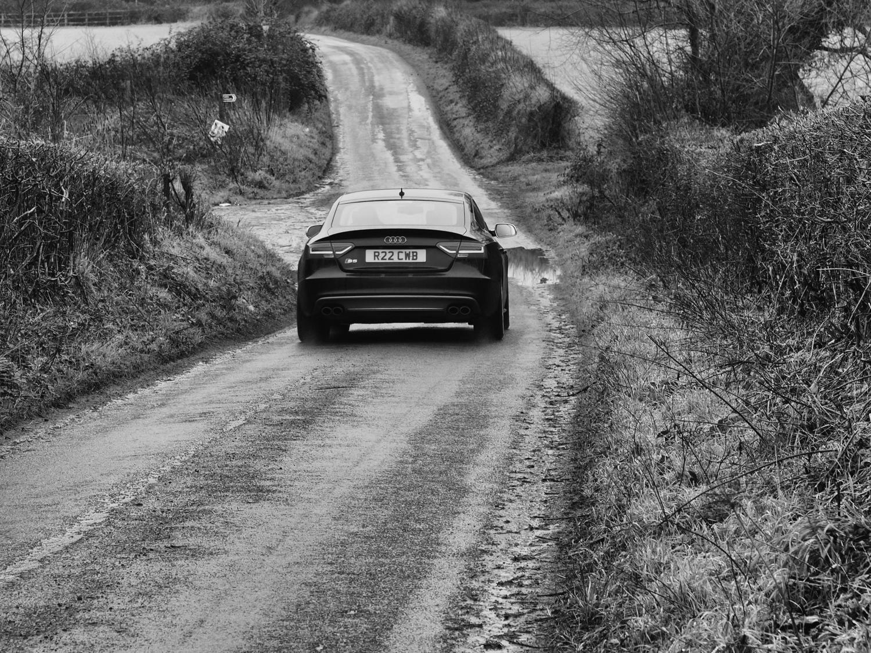 Car down lane