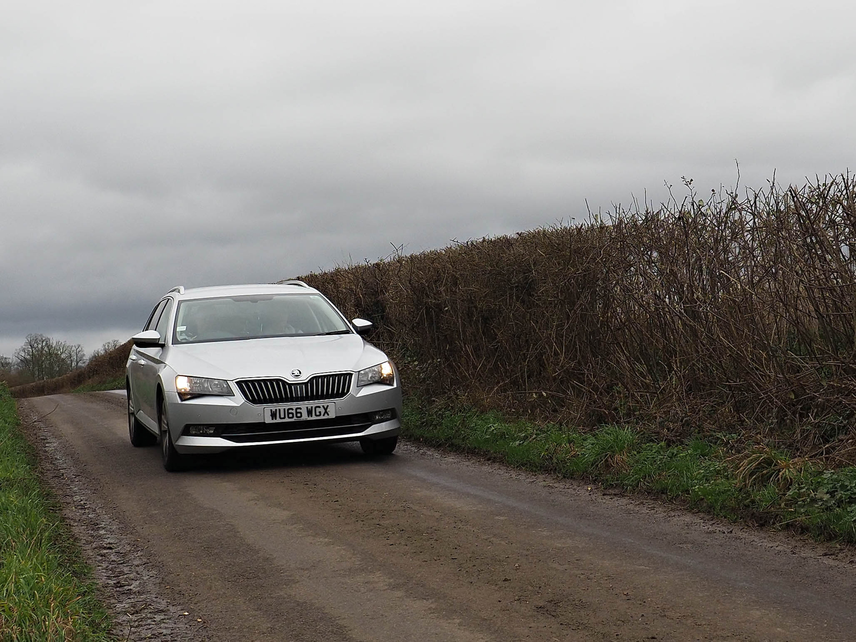 car down road