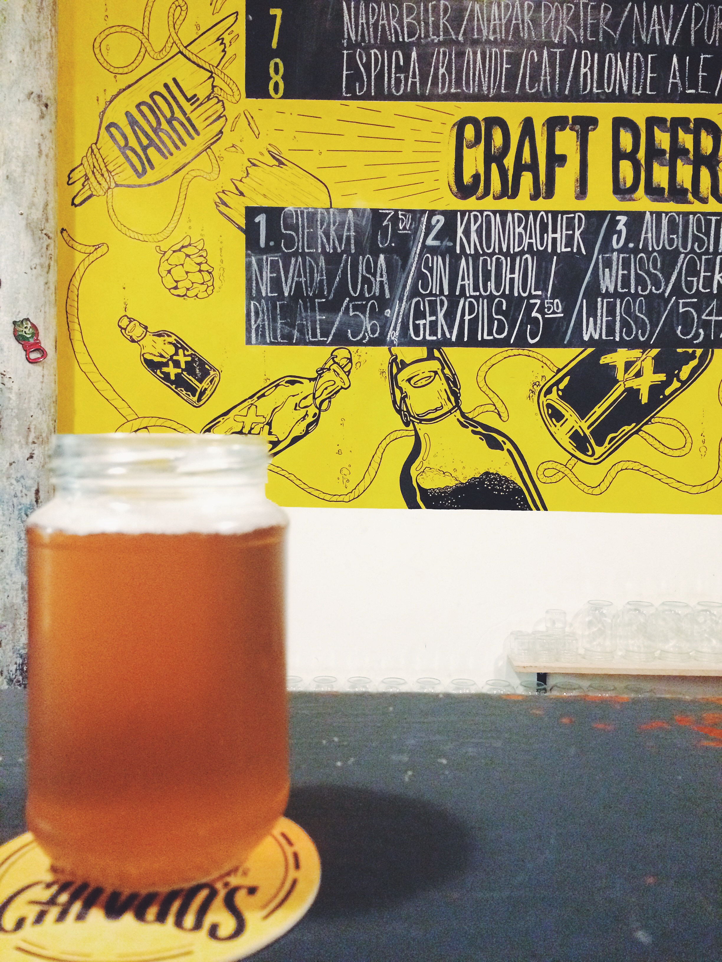 Craft beers at Chivuos, Barcelona