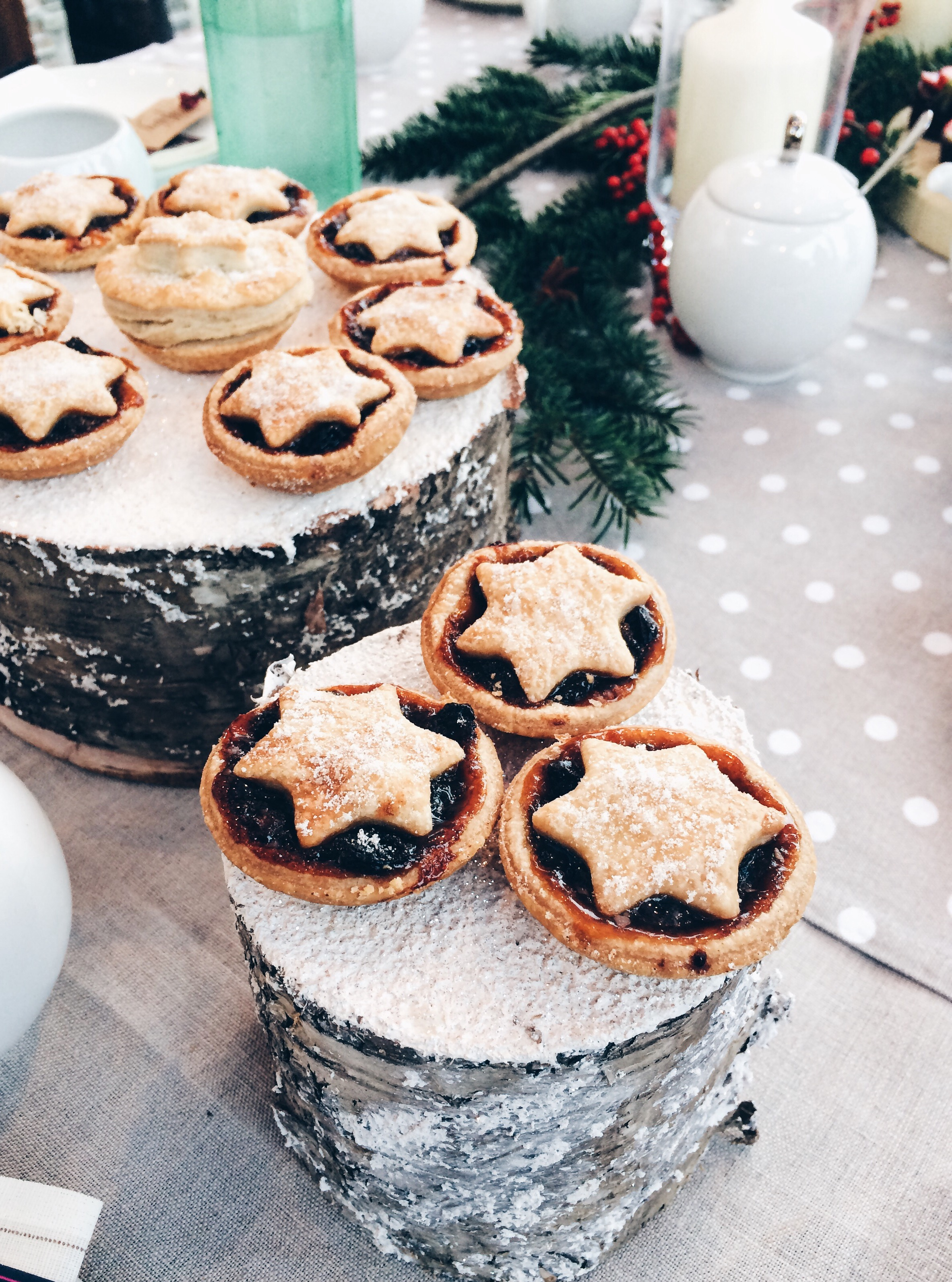 Mince pies at Rooftop Tea Barcelona