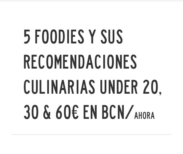 Foodies in Zurda magazine