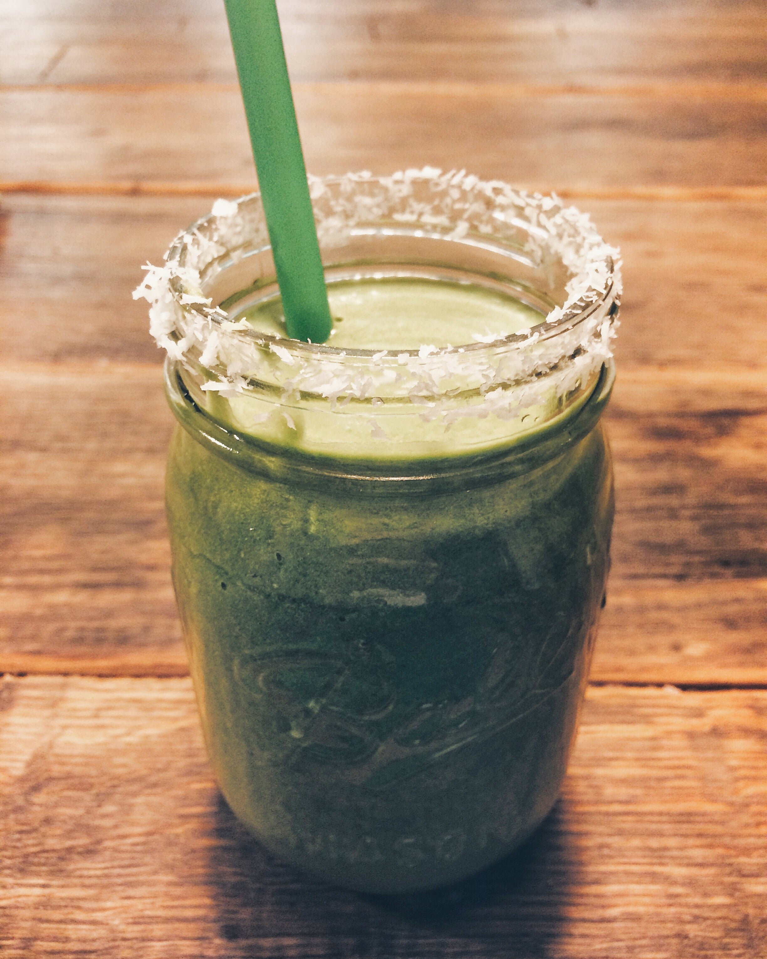 Green smoothie at Green & Berry