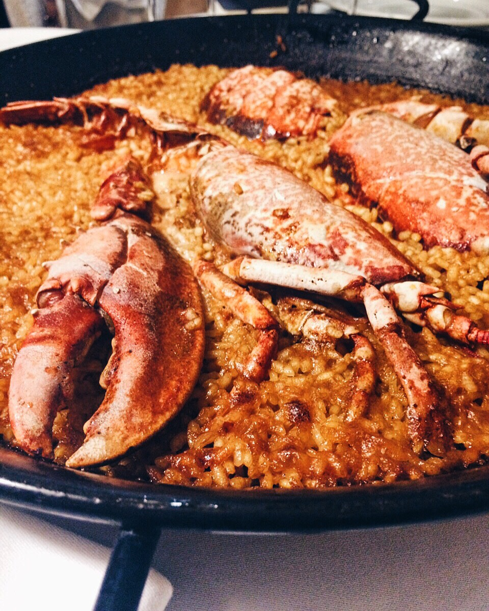 Lobster paella at Can Solé