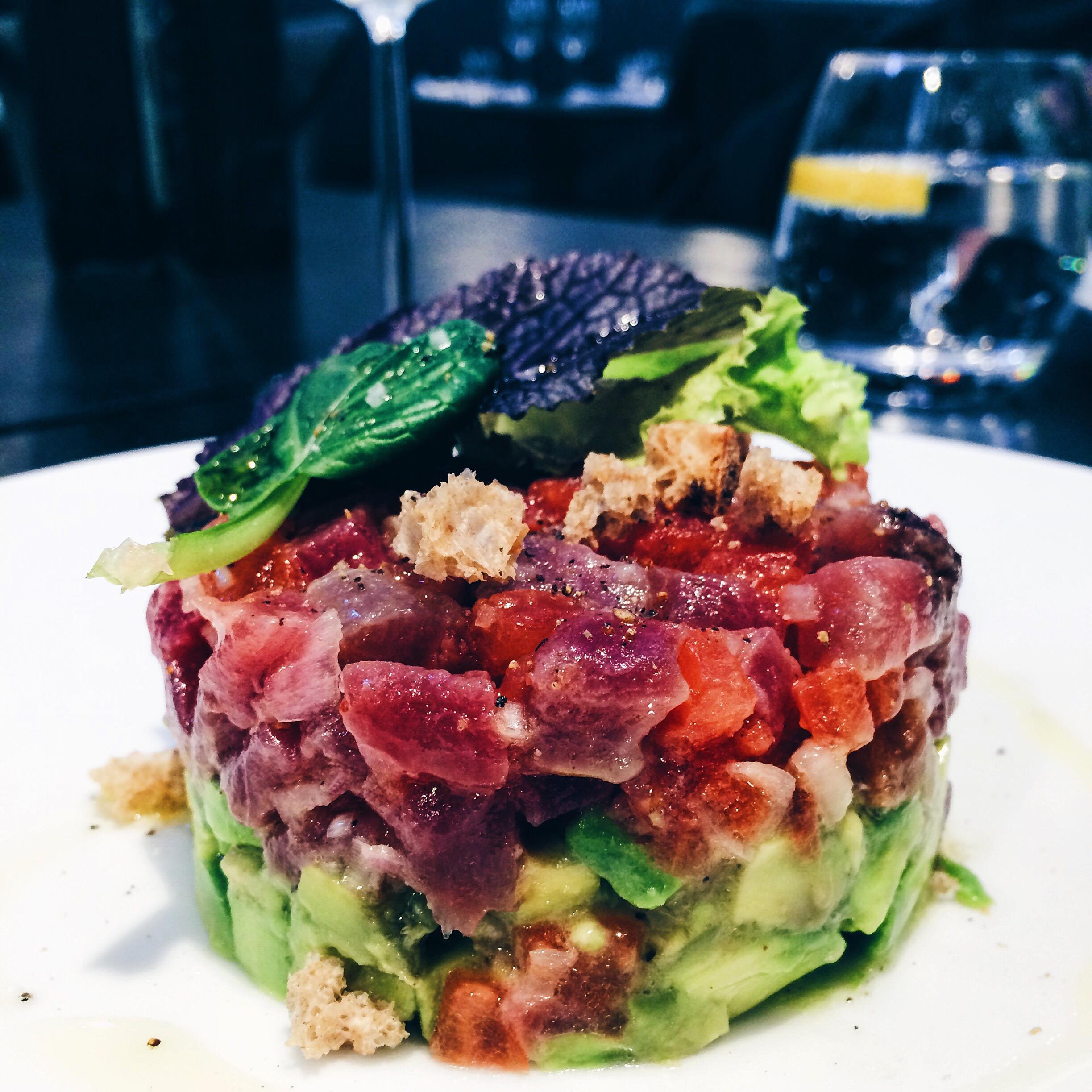 Tuna Tartare at L'Atelier Restaurant Barcelona