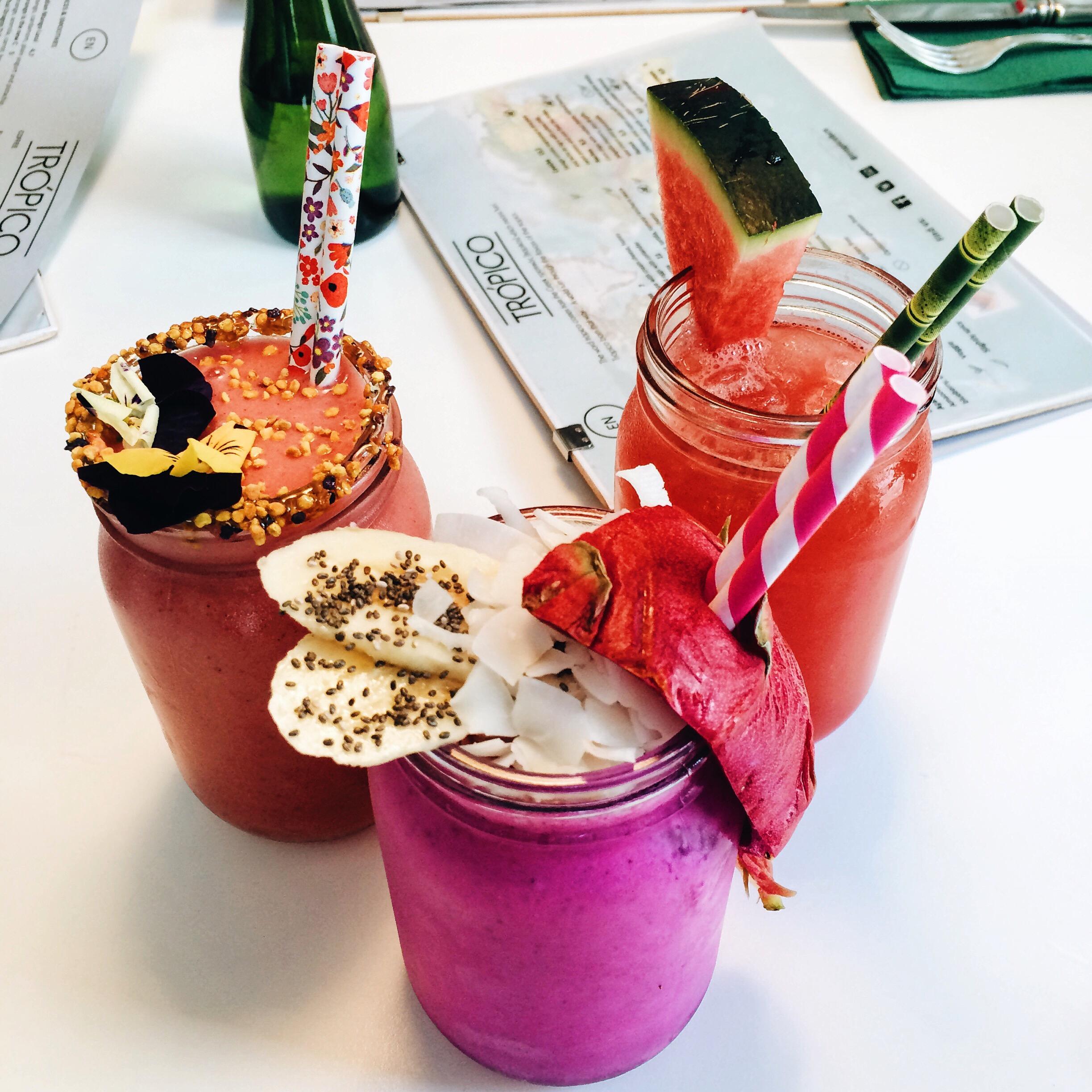 Smoothies at Trópico Barcelona. Photo © Barcelona Food Experience.