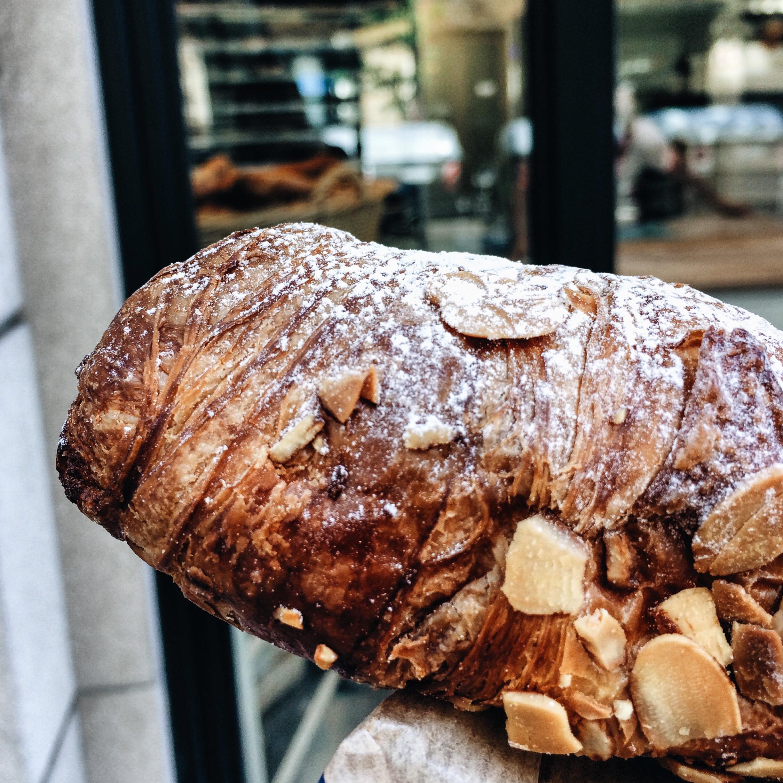 Almond Croissant at Baluard Bakery, Barcelona