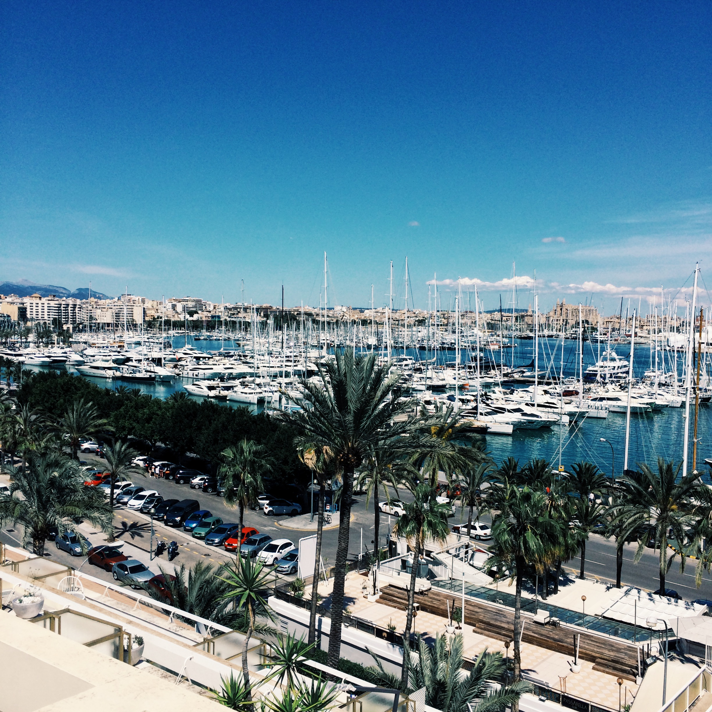 The port at Palma de Mallorca