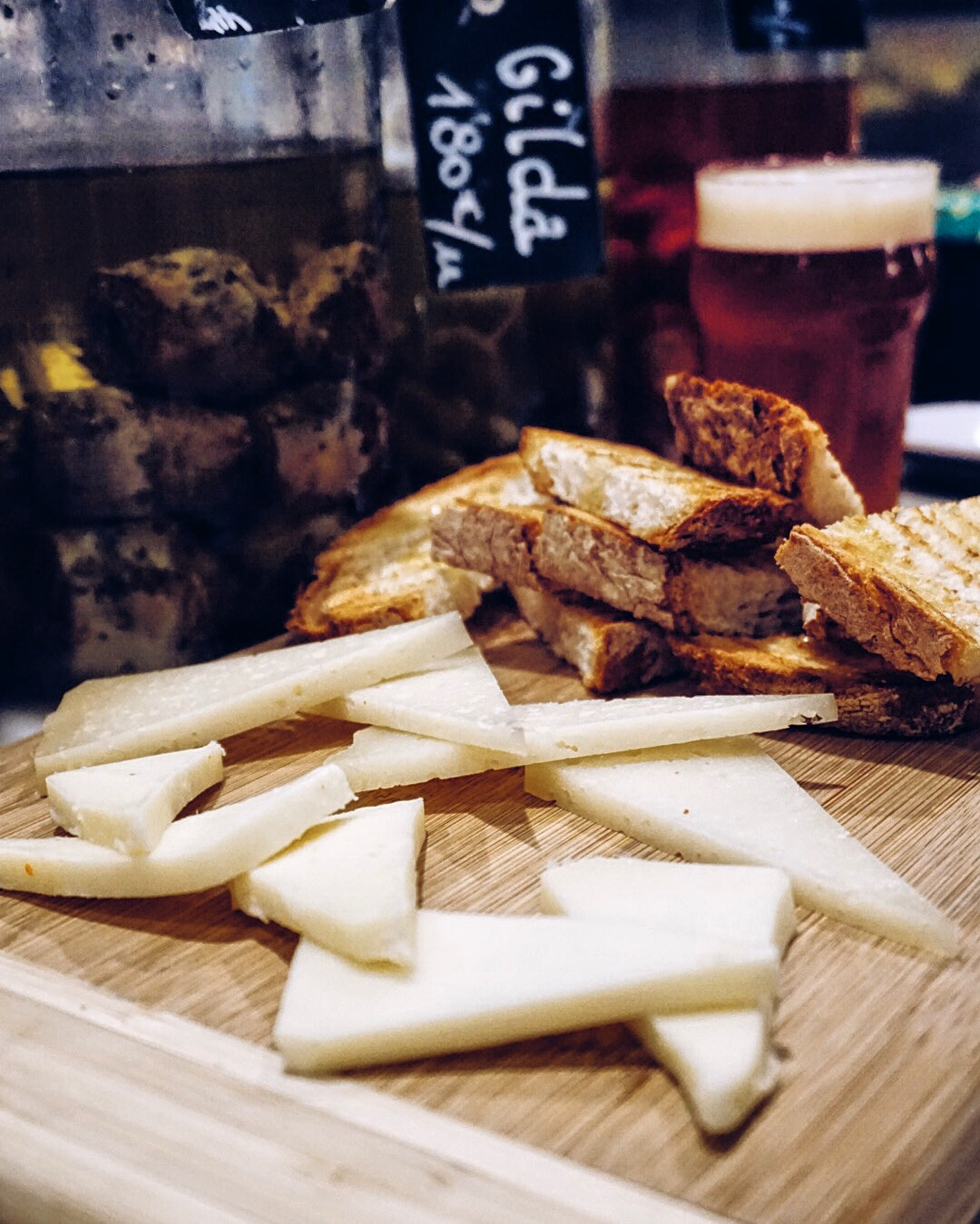 Cheese board at La Rovira, Barcelona