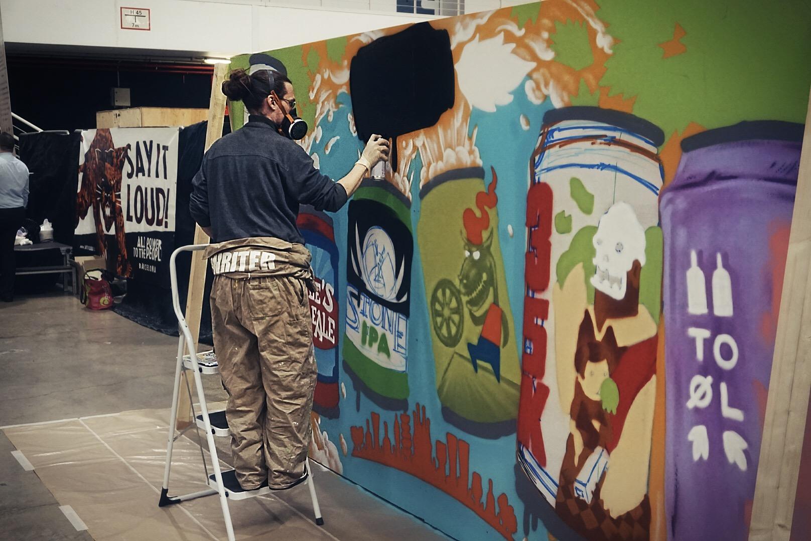 Craft beer is art. Mural de #dandolalata