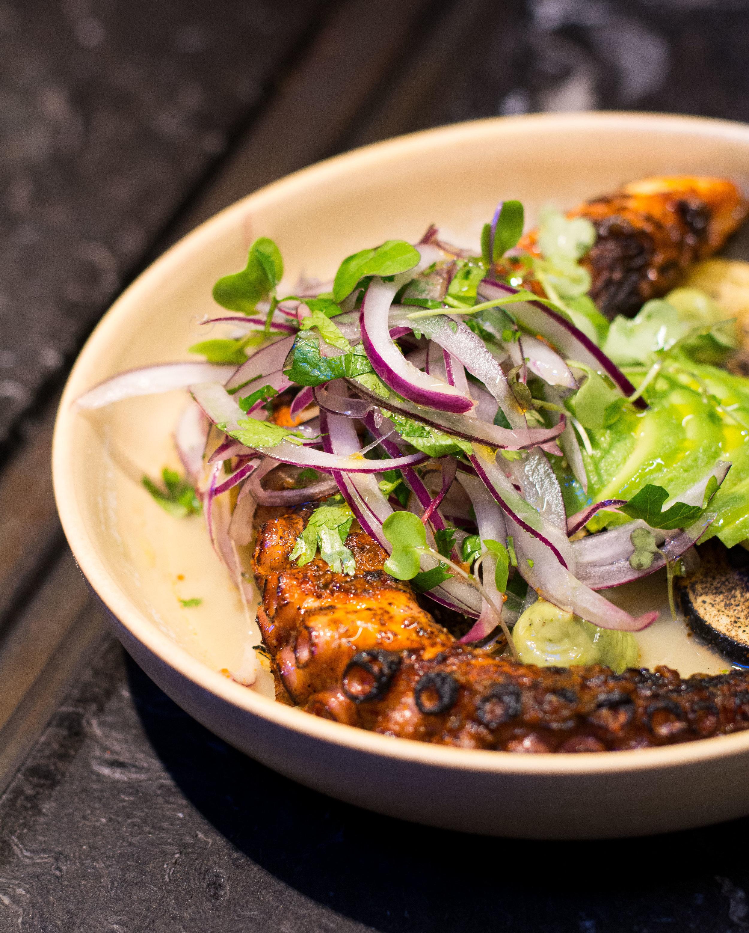 Grilled Octopus at Enkel, Barcelona