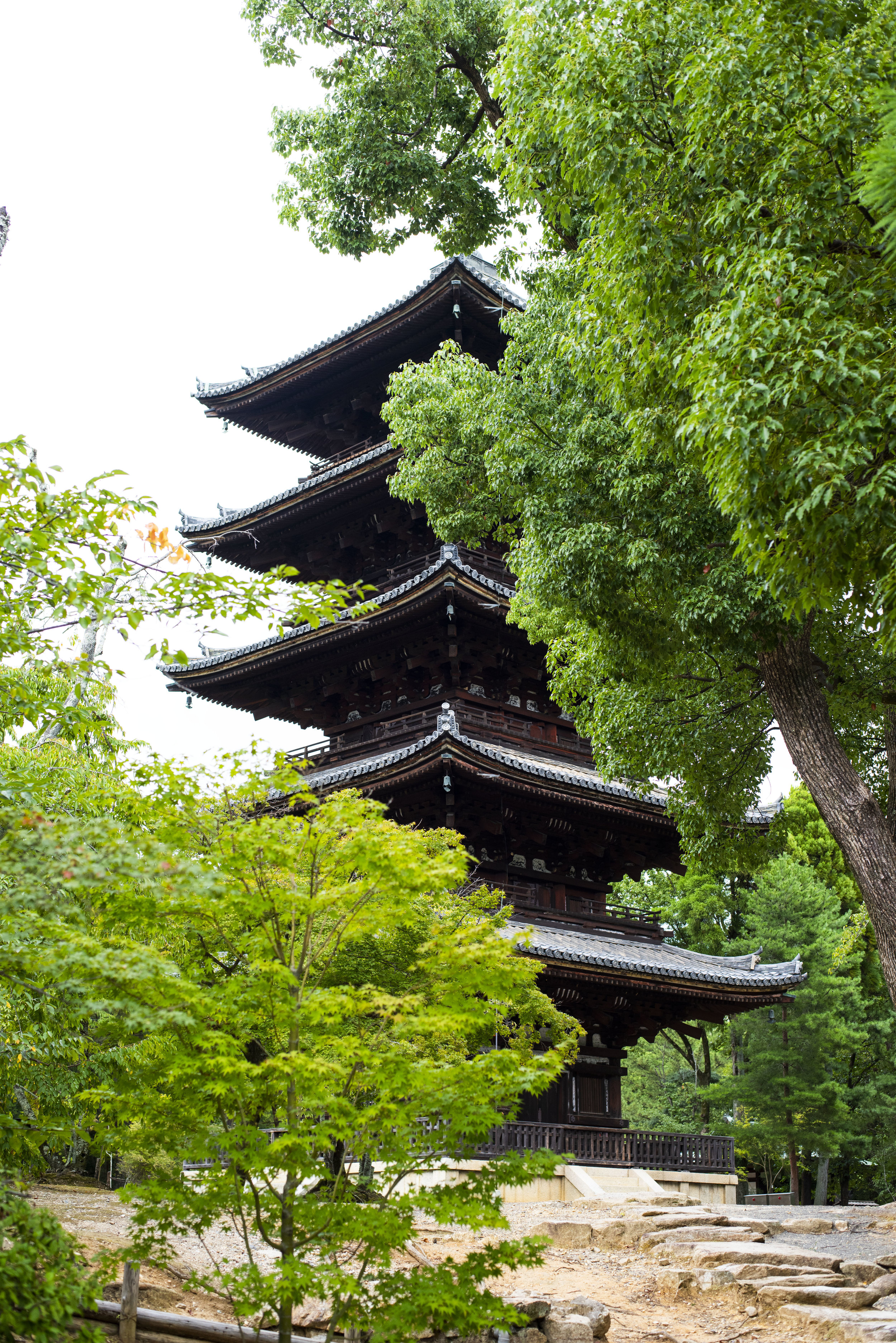 A five-storey pagoda at the Ninna-Ji Temple founded in 888 AD, Kyoto