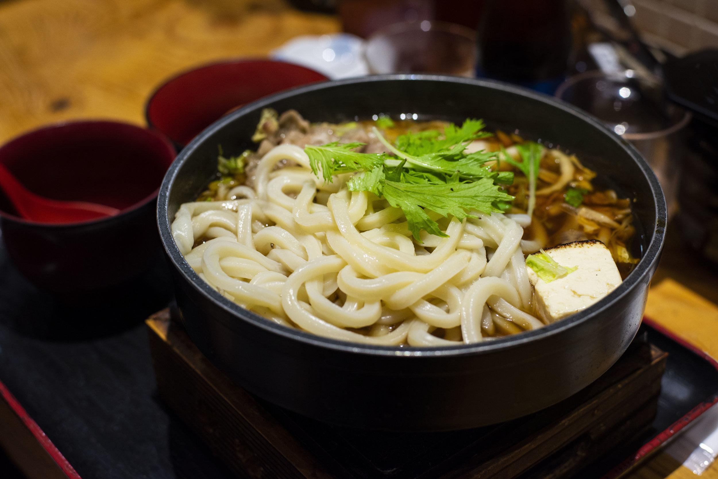 Udon noodles, Japan