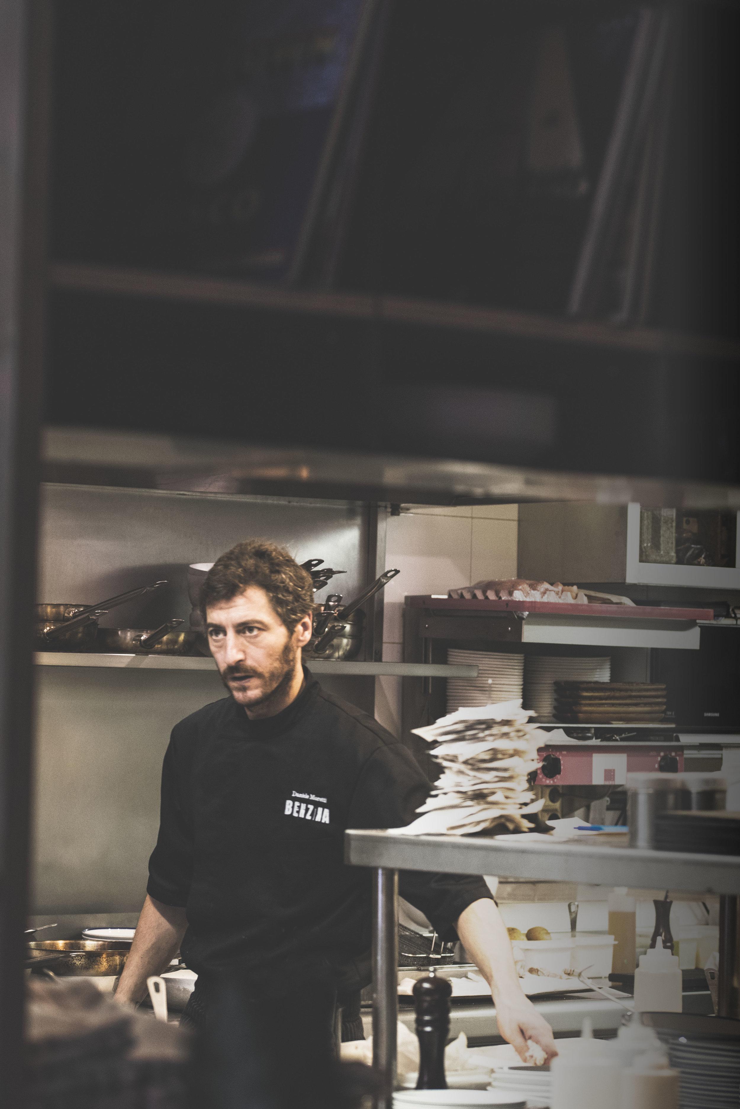 Head Chef Daniele Moretti, Benzina, Barcelona