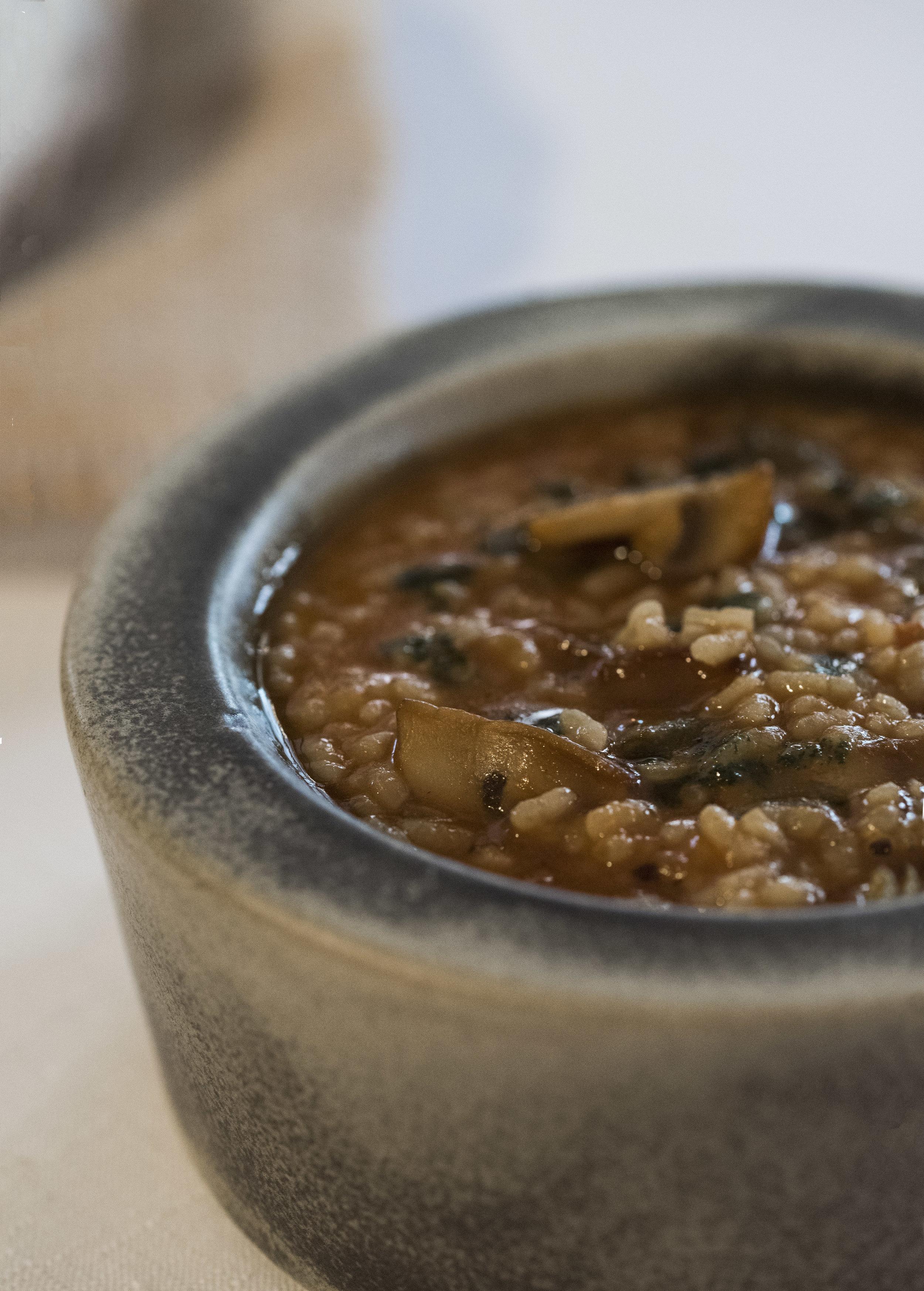 Arroz meloso de champiñones y judías verdes, Sao Barcelona  Photo © Barcelona Food Experience