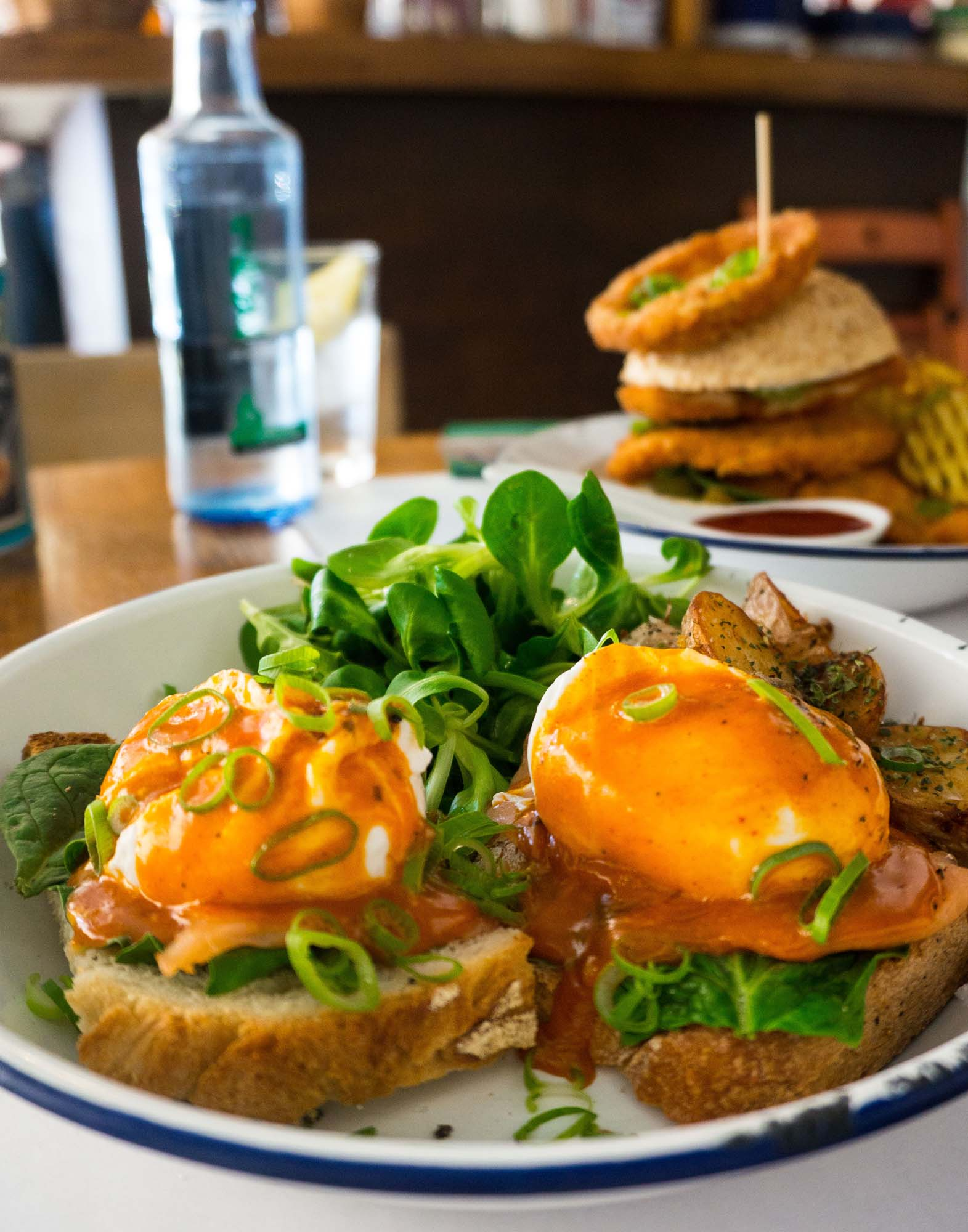 Eggs Benedict at Can Dende, Barcelona. Photo © Barcelona Food Experience.