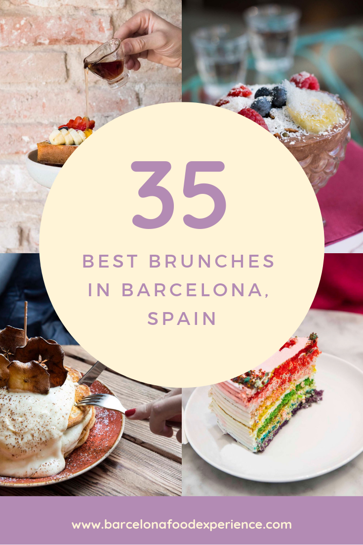 Best brunch restaurants Barcelona Spain