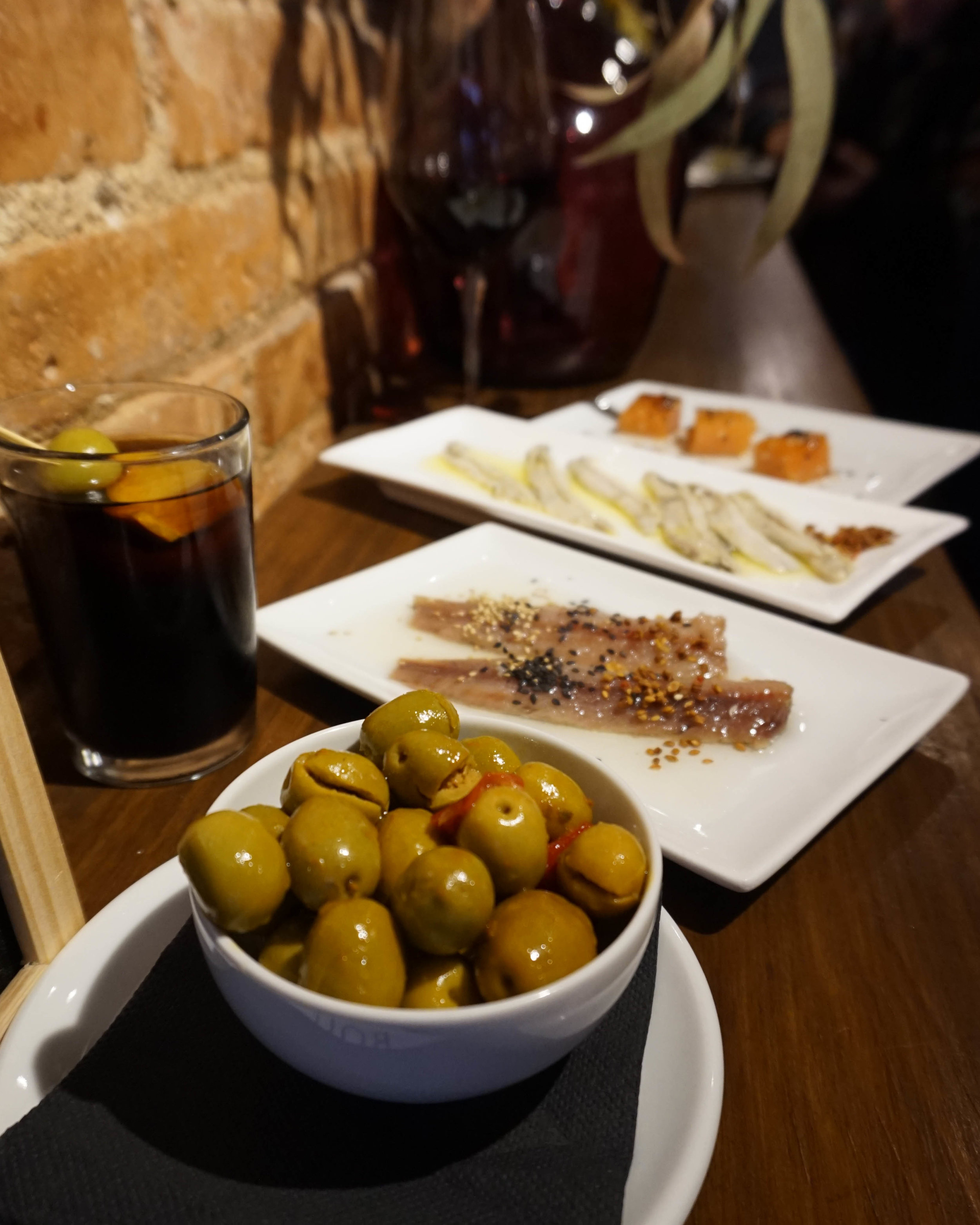 Vermouth at Puigmarti Bar Vermuteria, Barcelona