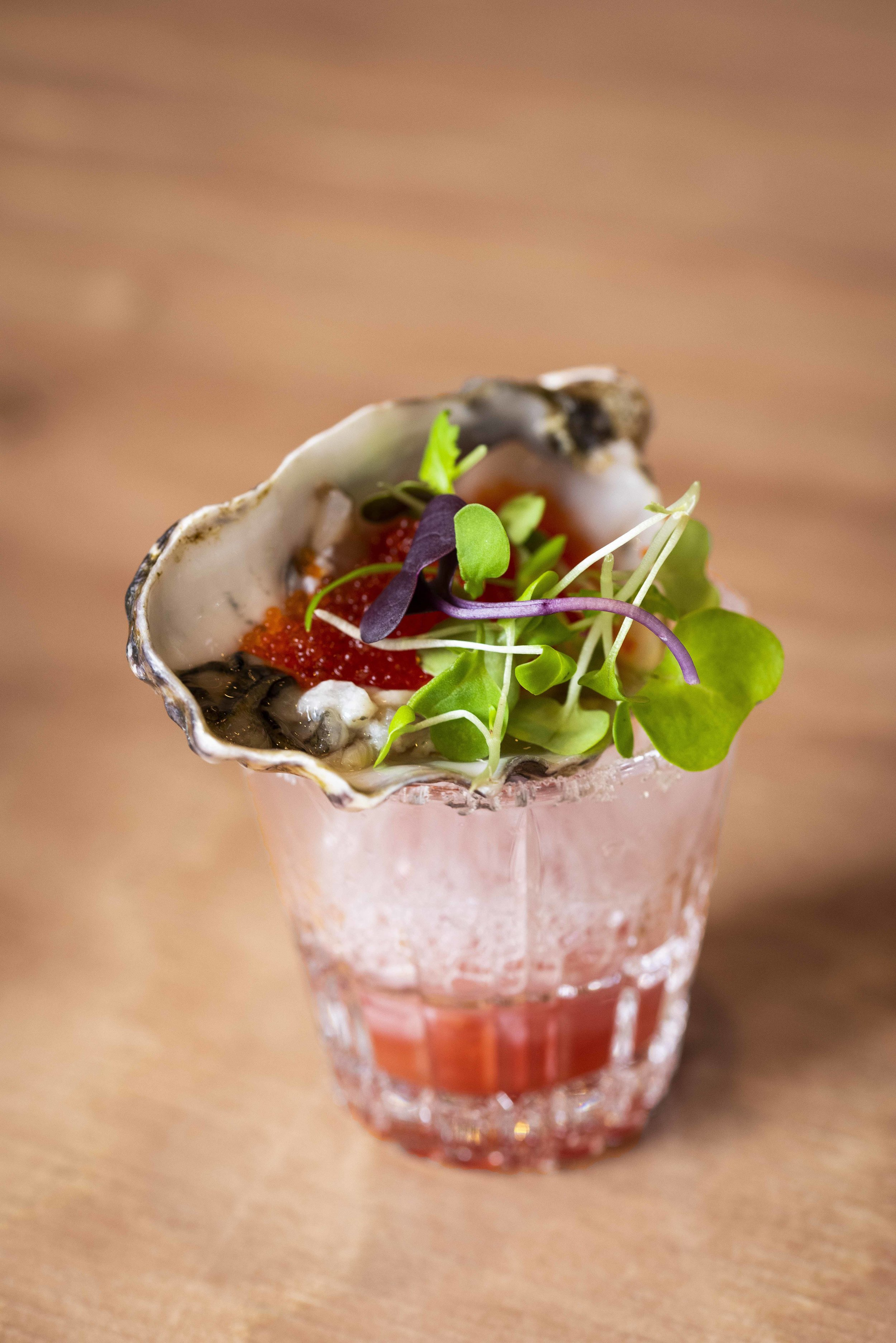One Shot Oyster at Clubhaus, Barcelona. Photo © Barcelona Food Experience.