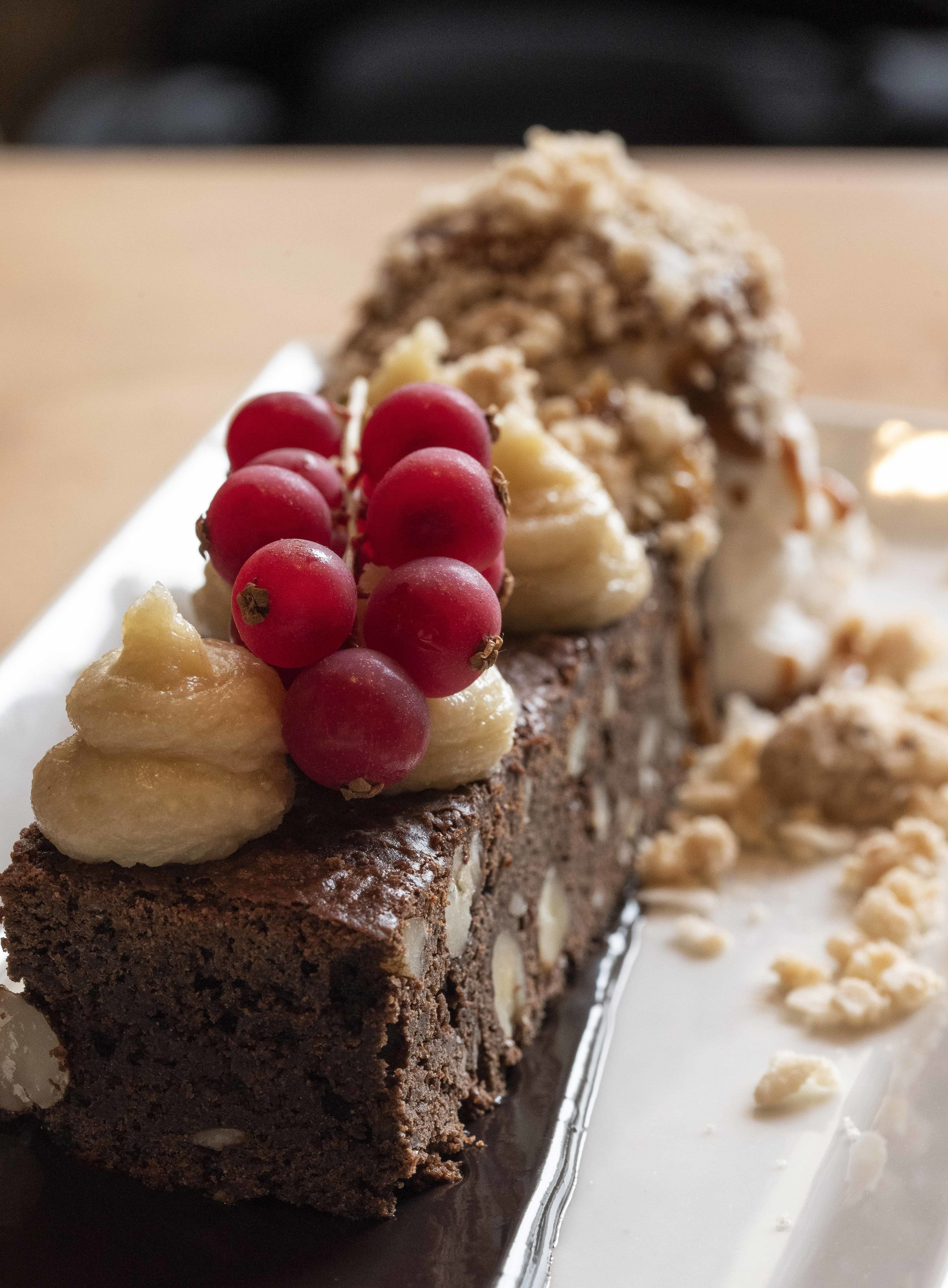 Brownie at Clubhaus, Barcelona. Photo © Barcelona Food Experience.