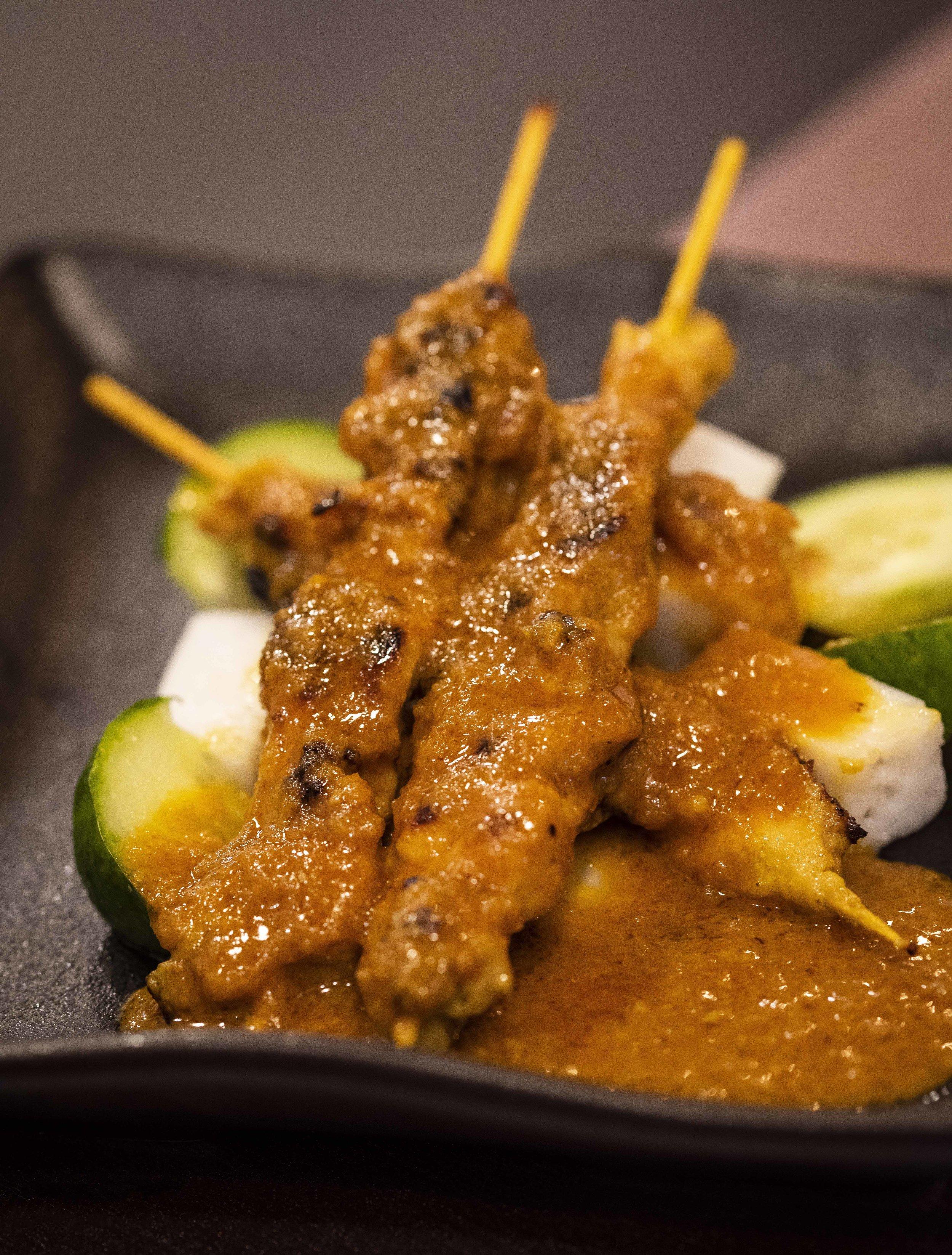 Satay at Malaysia Express Halal, Barcelona. Photo © Barcelona Food Experience.