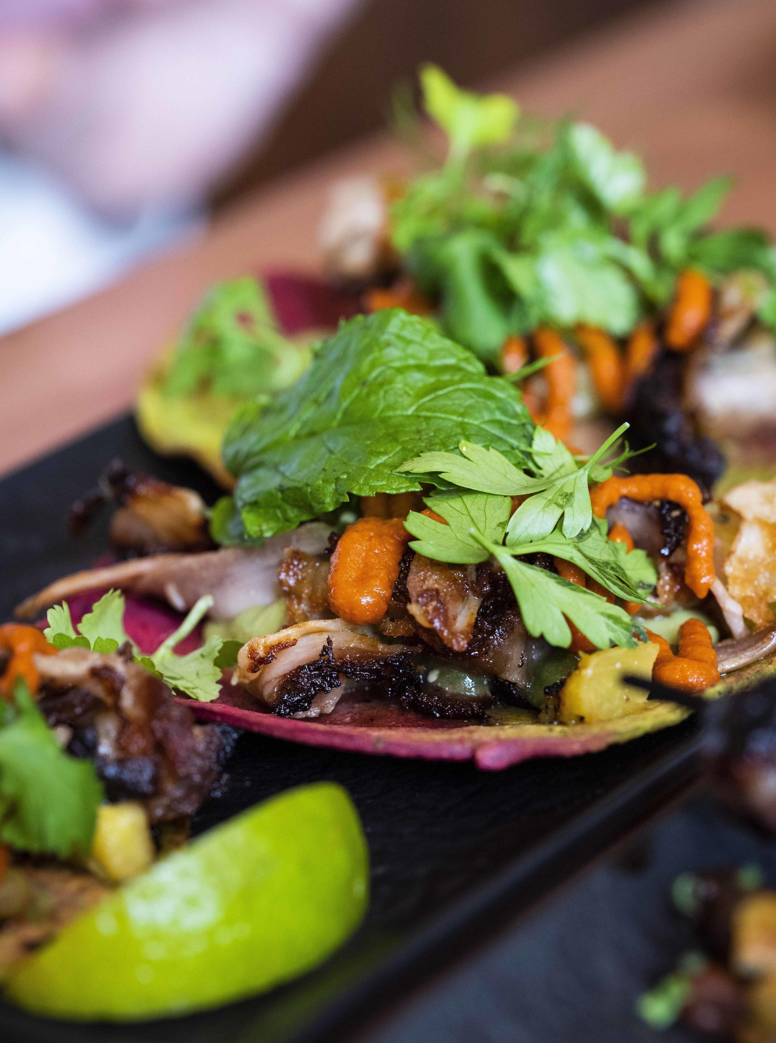 Tacos at Clubhaus, Barcelona. Photo © Barcelona Food Experience.