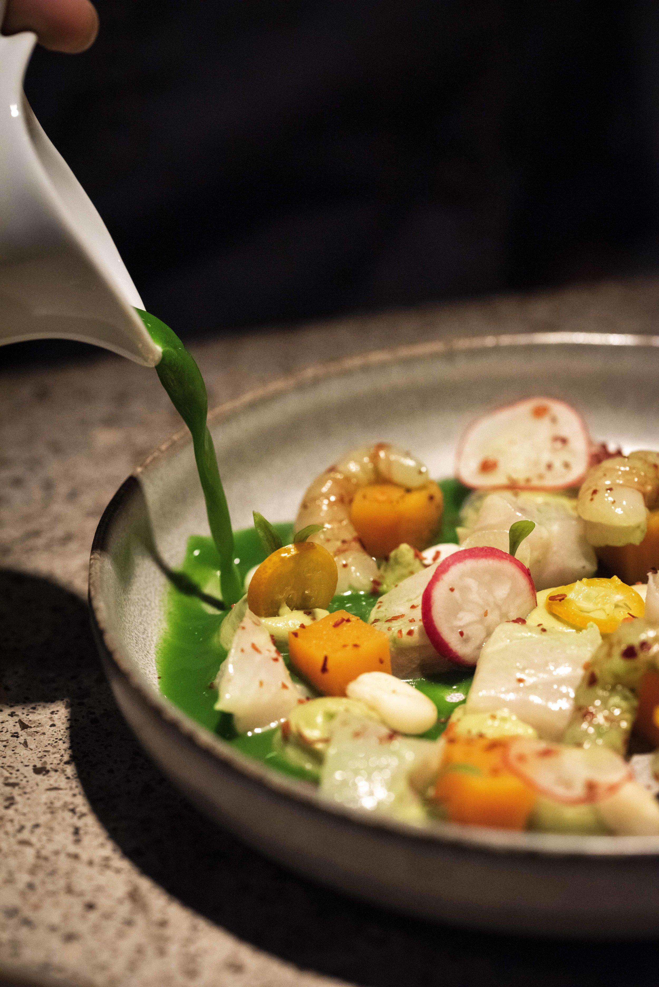 Aguachile at Chaka Khan restaurant, Barcelona. Photo © Barcelona Food Experience.