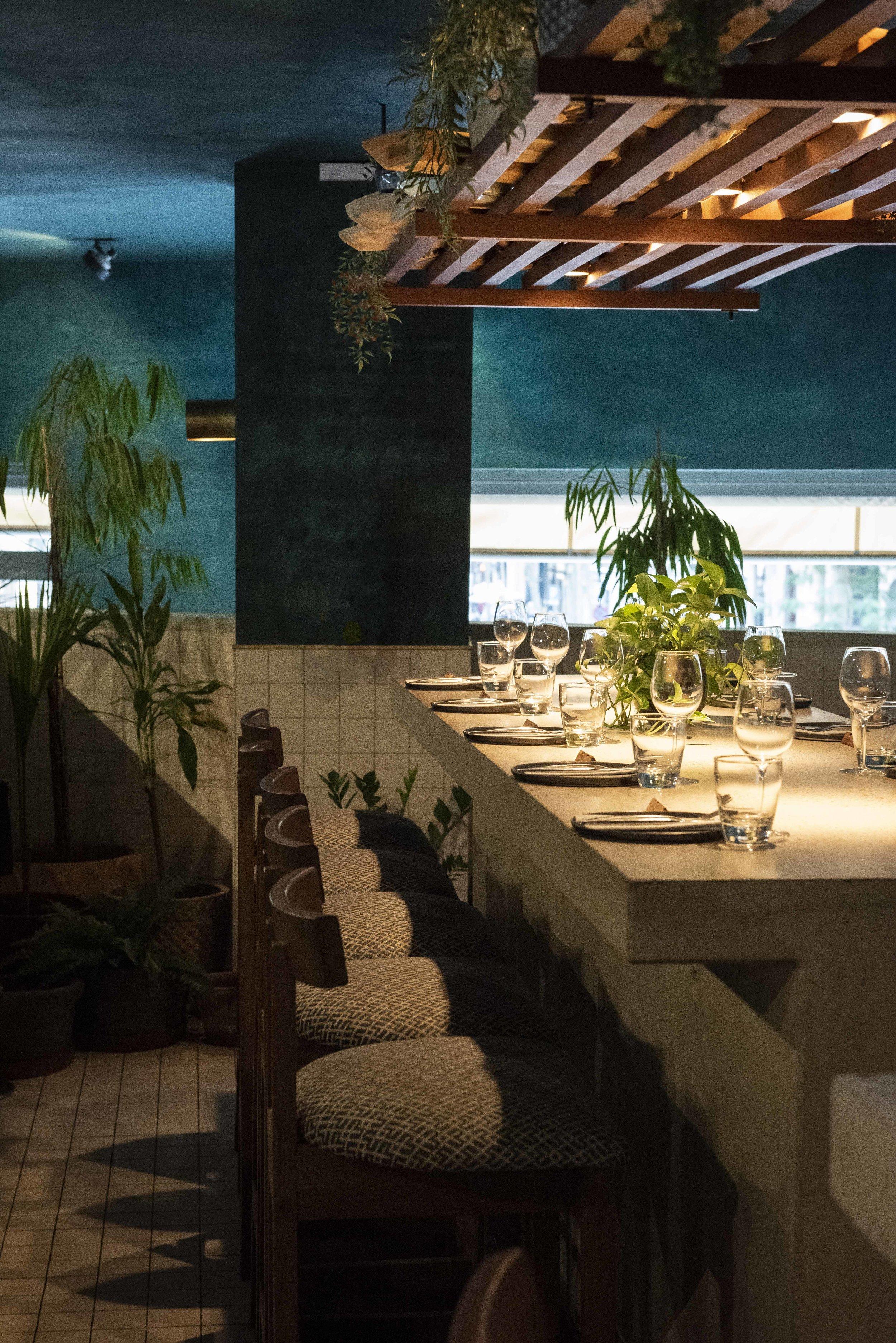 Khan upstairs at Chaka Khan restaurant, Barcelona. Photo © Barcelona Food Experience.