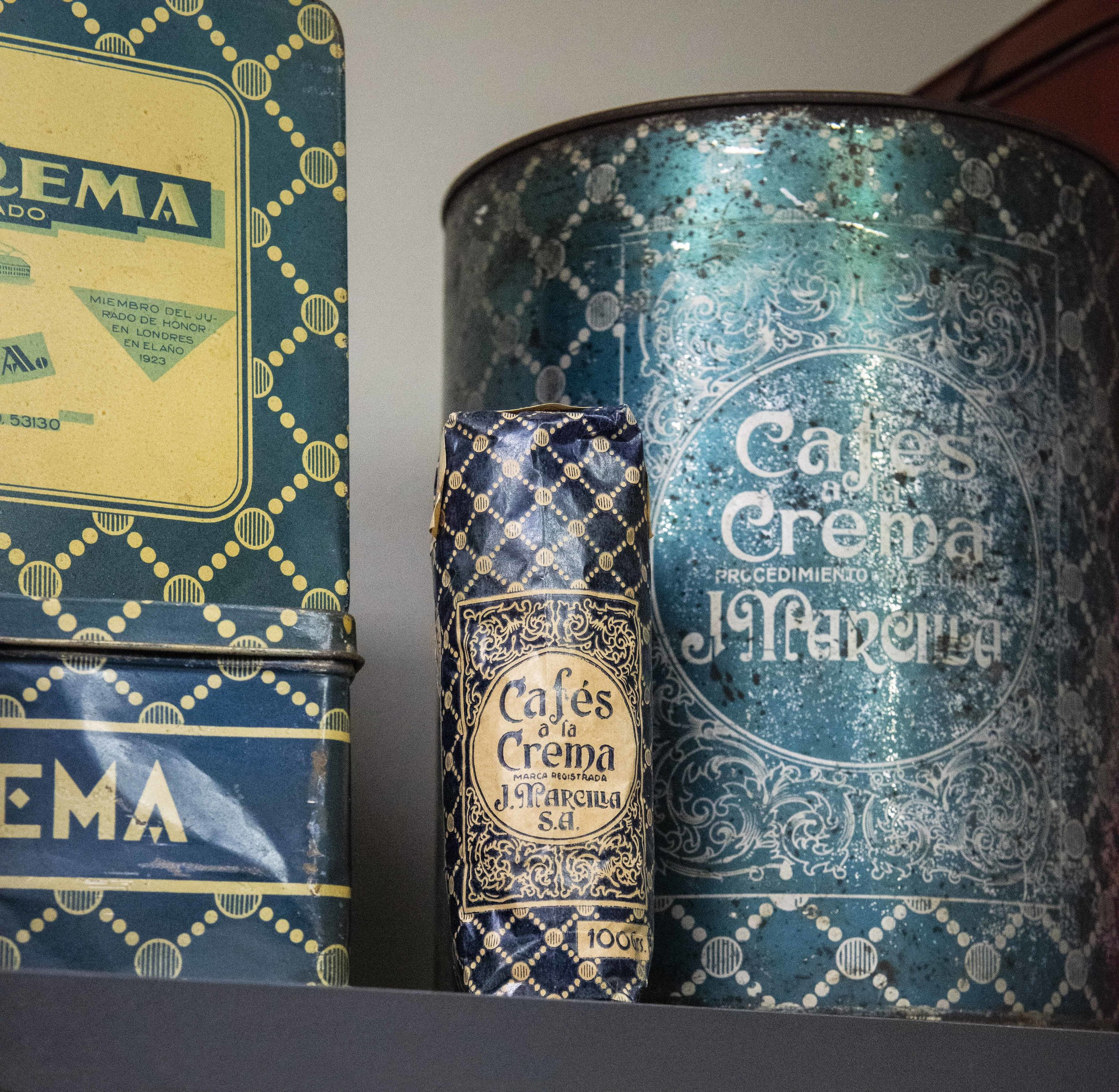 Vintage items from Marcilla coffee. Photo © Barcelona Food Experience.