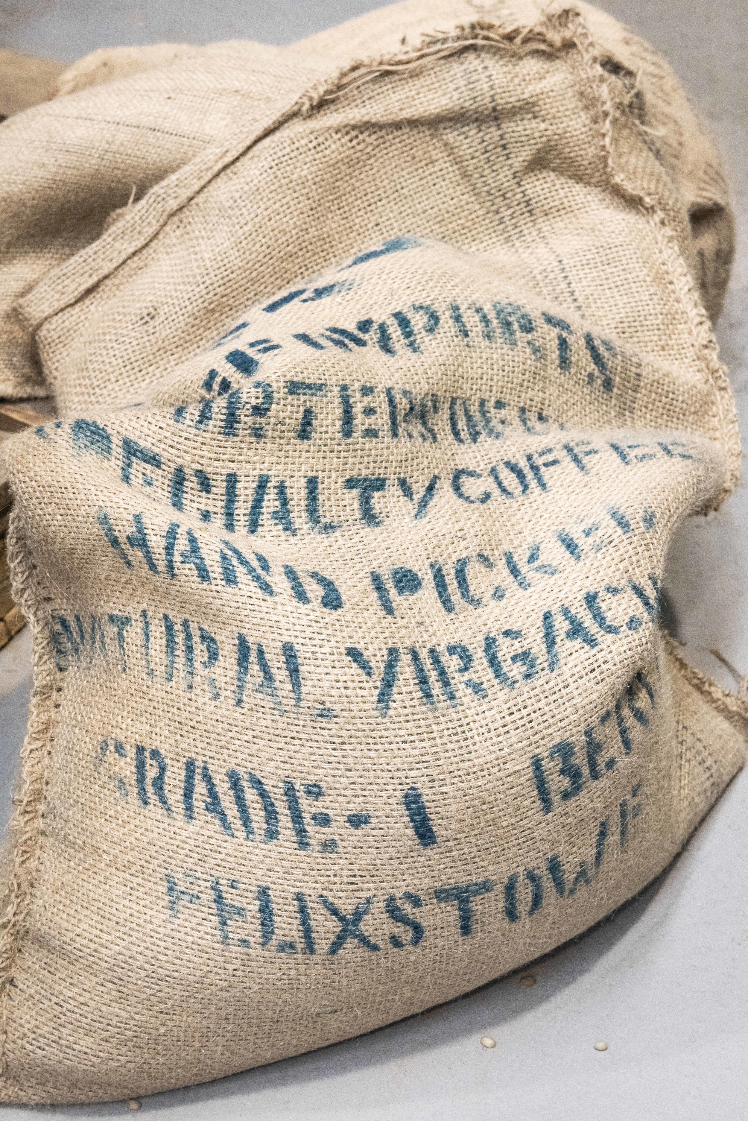 Bags of coffee for 80plus specialty coffee. Photo © Barcelona Food Experience.