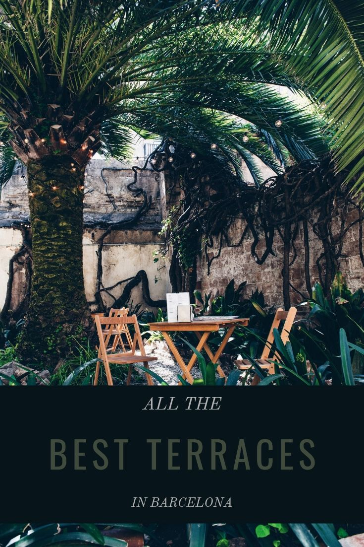 Best terraces in Barcelona, Spain