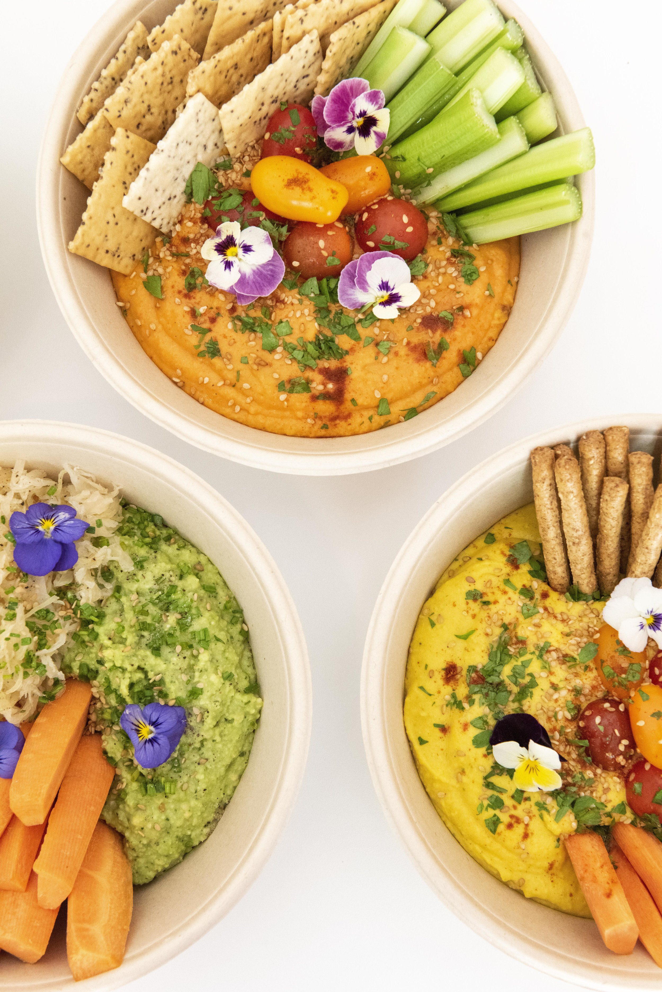 Hummus for catering by Wild Lulita, Barcelona. Photo © Barcelona Food Experience.