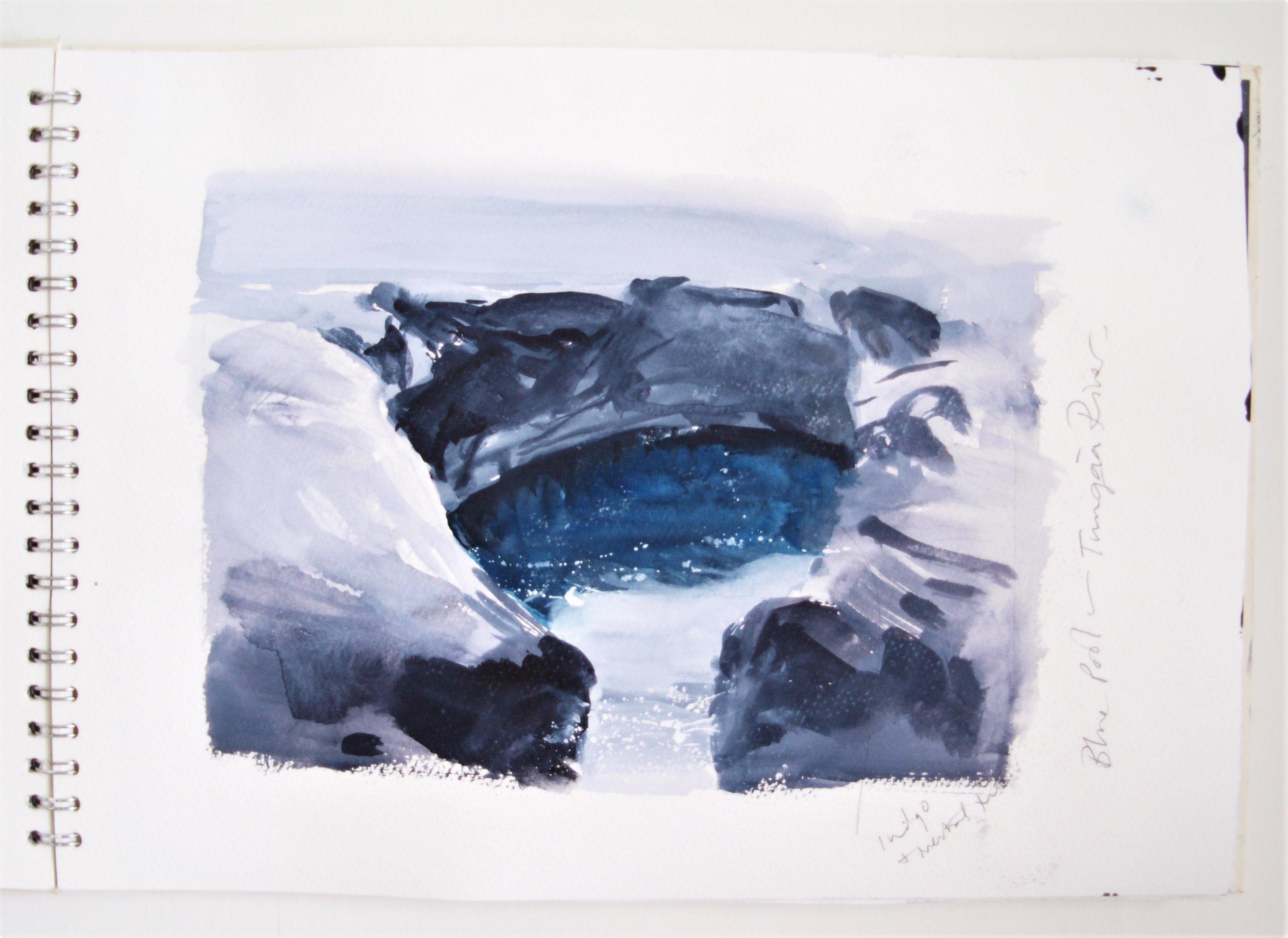 ICELAND LIGHT INTO DARK Sketchbook 2016 (page 10) C.G.GUEST.JPG