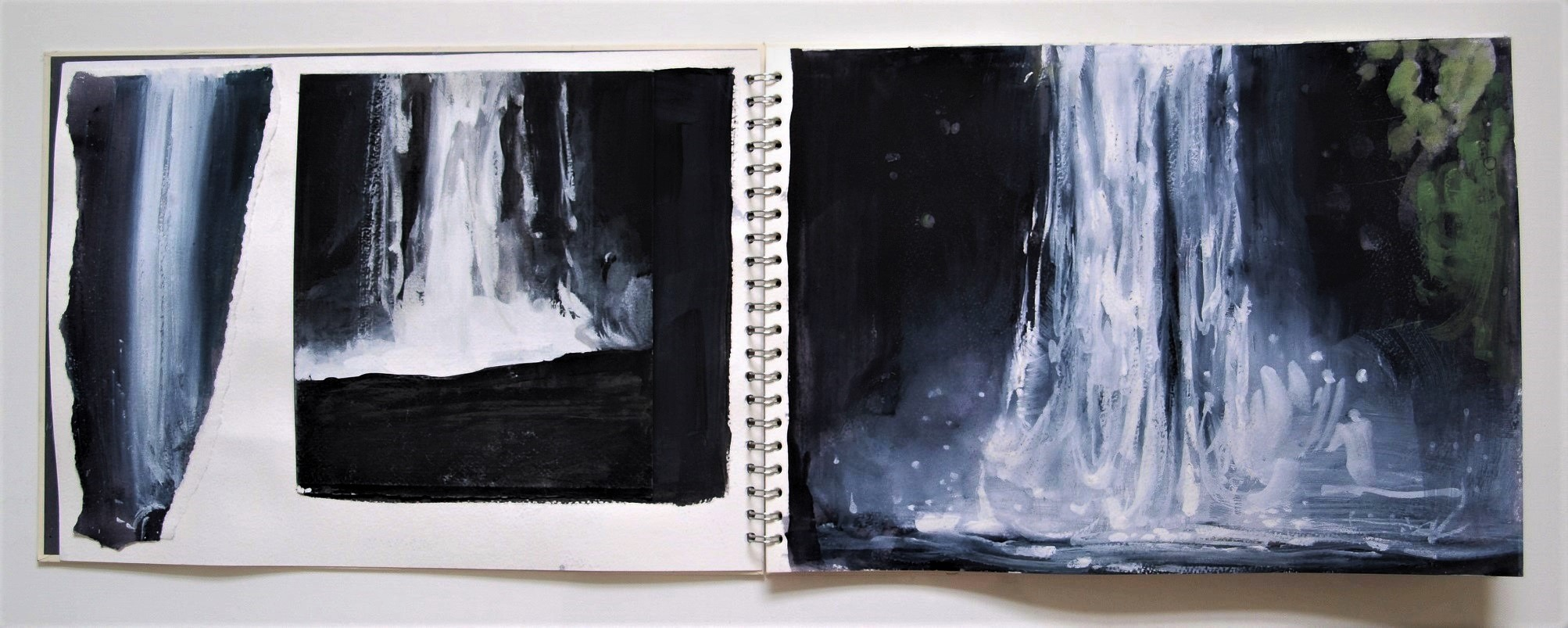 ICELAND_LIGHT_INTO_DARK_Sketchbook_pages 2 and 3_CORALGUEST2017.JPG