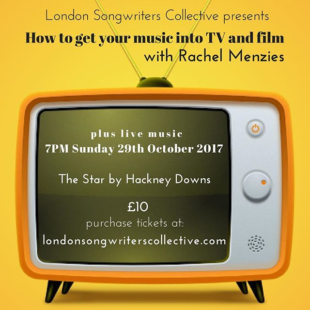 #Repost @londonsongwriters ・・・ Get your tickets now! We're SO looking forward to hosting our first guest speaker, @rachmenzies, Director of @hooklinetv and Music Supervisor at @nativemusicsupervision! We'll have a talk from Rachel, followed by audience Q&A. We'll also have live music! We'll be @starbyhackneydowns, so grab a few drinks at the pub and connect with your fellow songwriters! Tix available through our website, link in bio. #singer #singersongwriter #music #songwriter #songwriting #composer #productionmusic #sync #acoustic #unsigned #unsignedartist #folkmusic #folk #pop #indieartist #london #londonmusic #gigs #livemusic #originalmusic #hackney #musicpublishing #filmmusic