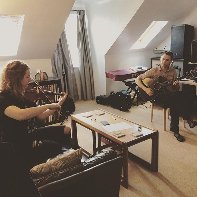Rehearsing a good old fashioned Appalachian murder ballad...except we wrote it today. @valeriapozzomusic, @robertjamesaitken and I will debut it at the @londonsongwriters Songwriters Series on Sunday in Hackney! #acoustic #guitar #violin #newmusic #appalachia #violin #fiddle #acousticguitar #murderballad #singer #songwriter #singersongwriter #london #rehearsal #music #londongigs #lyrics #originalmusic #folk #folkmusic #homestudio