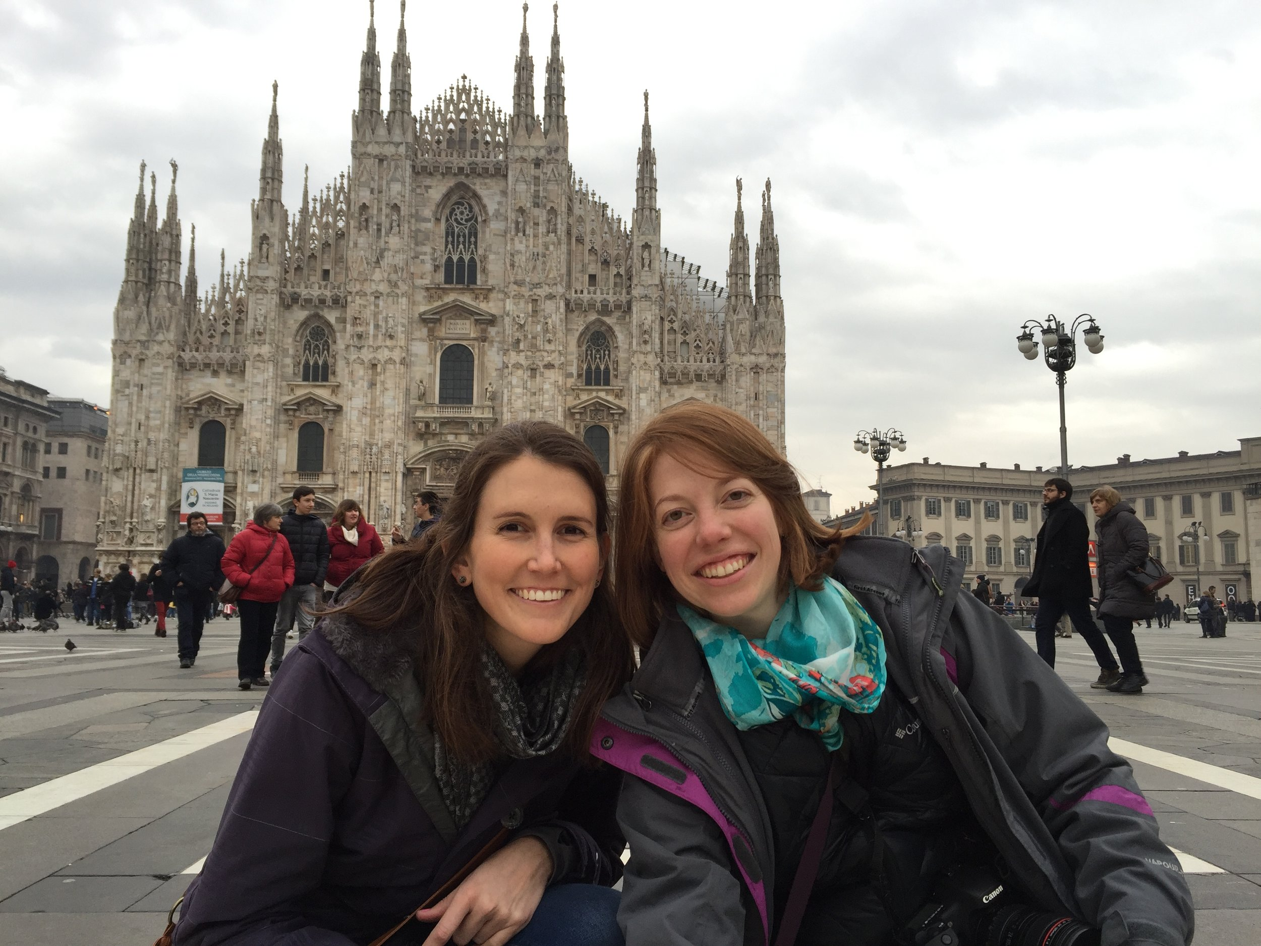 In front of the Duomo, Milan