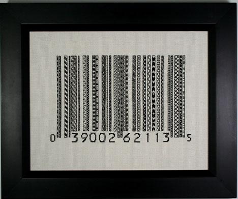 Blackwork Barcode, 2010, Rubi McGrory