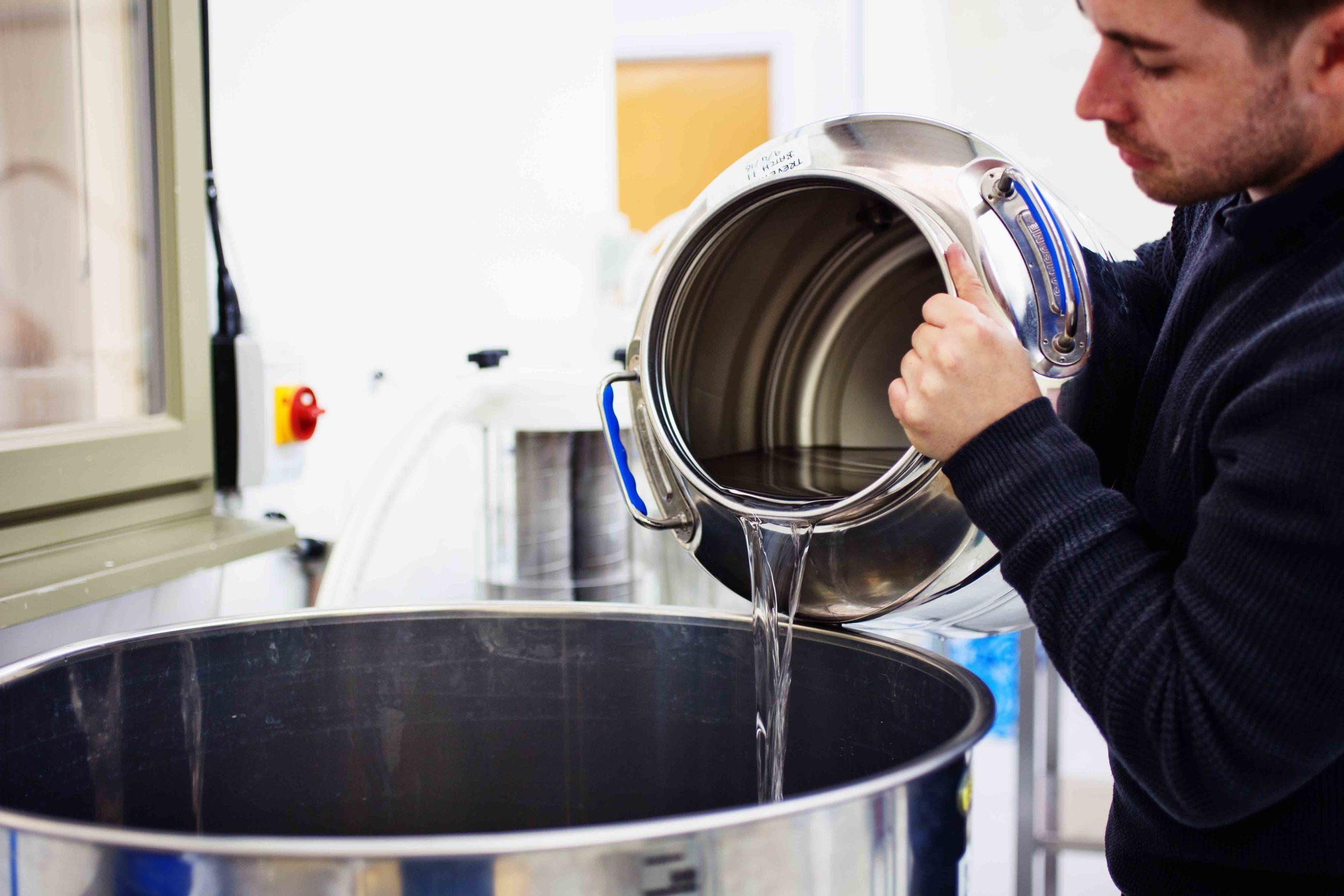 Distiller at work Trevethan Gin