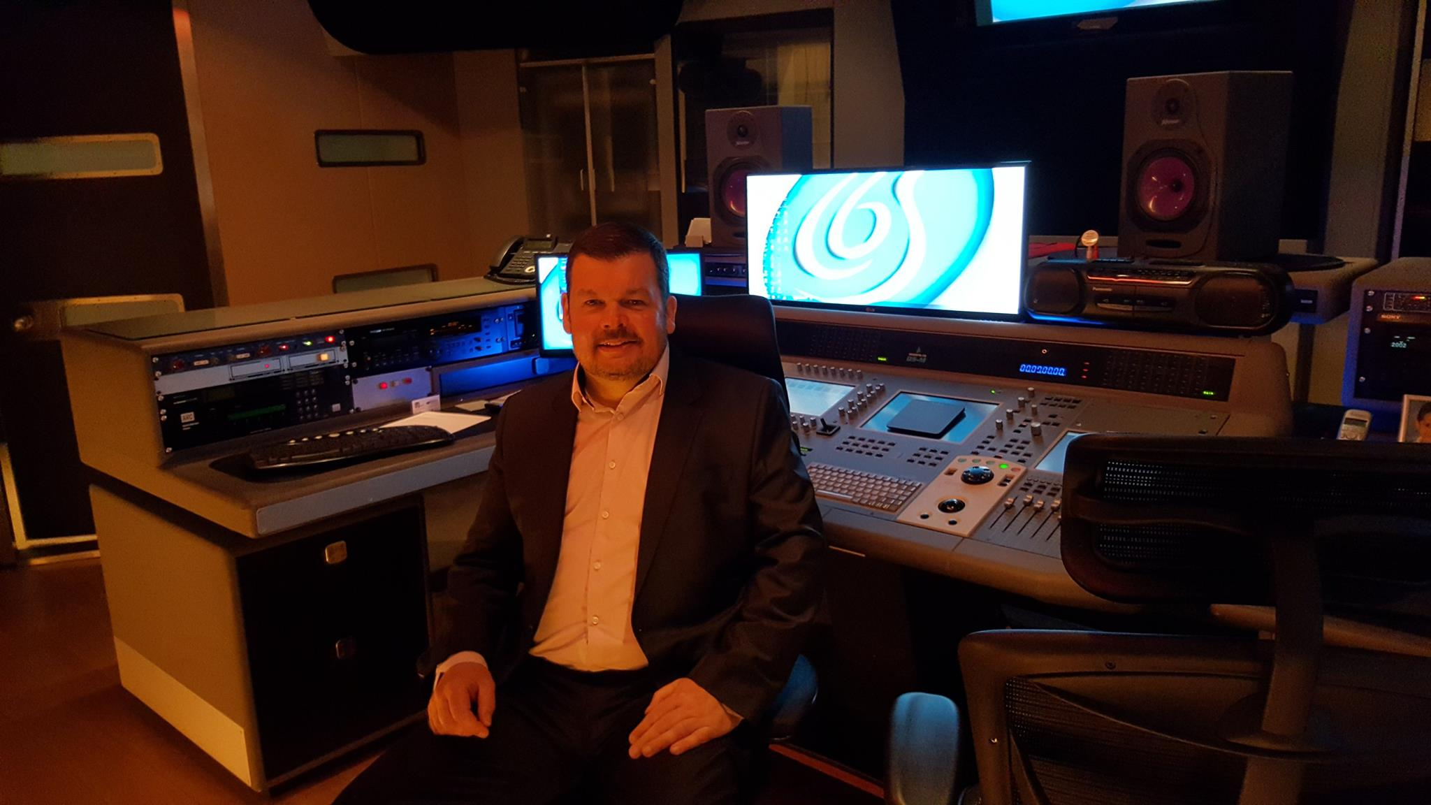 Our Managing Director Phil Johnson in the studio