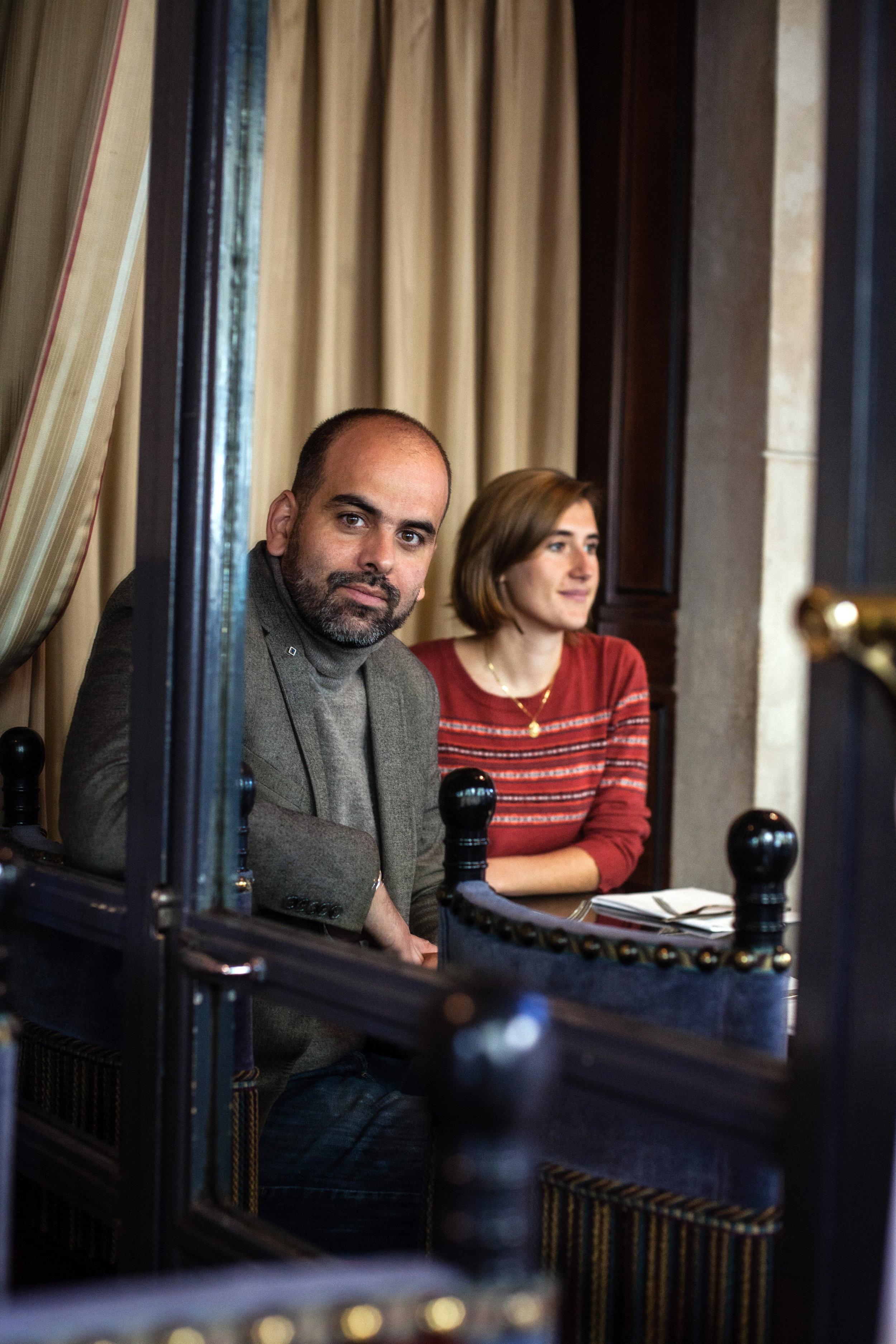 """Romain Slitine et Elisa Lewis, co-auteur du livre """"Le coup d'état citoyen"""" (La Découverte). 2016.Pour Socialter."""