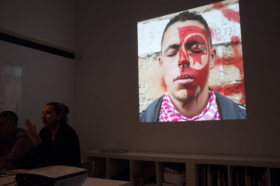 Présentation de Tunisie Portraits d'une révolution au Percolateur. Marseille. 2013