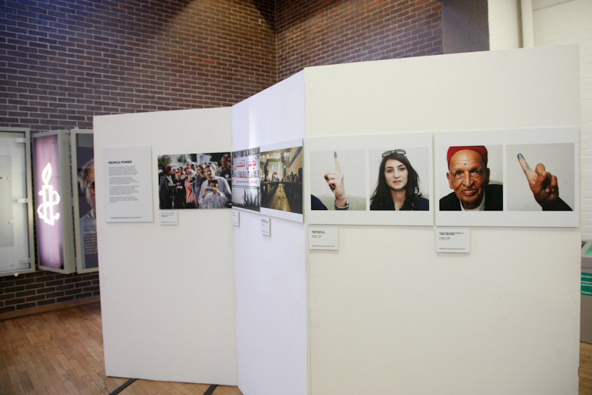 Exposition Amnesty intenational Londres. UK. 2011