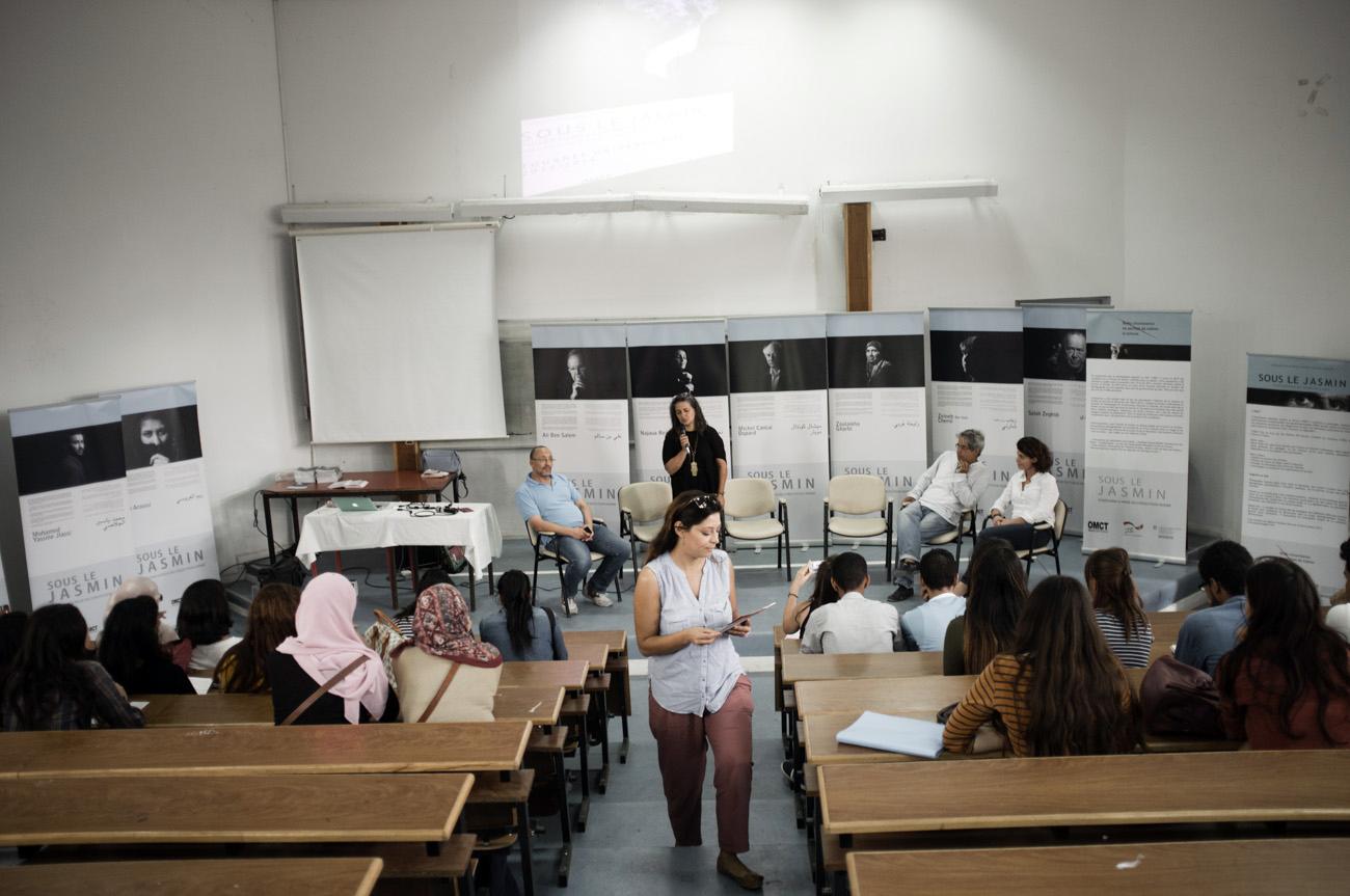 Exposition Sous le jasmin, histoires d'une répression en Tunisie. Université de Tunis. Tunisie. 2015.