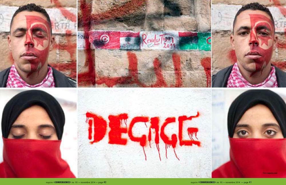 Exposition Sous le Jasmin, histoires d'une répression en Tunisie.Amnesty International Montreal. Cananda. 2014