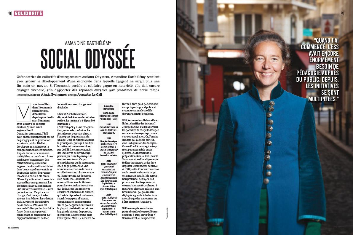 Amandine Barthélémy  , pour le spécial «Idée Collaborative » de Socialter. Dec 2017.