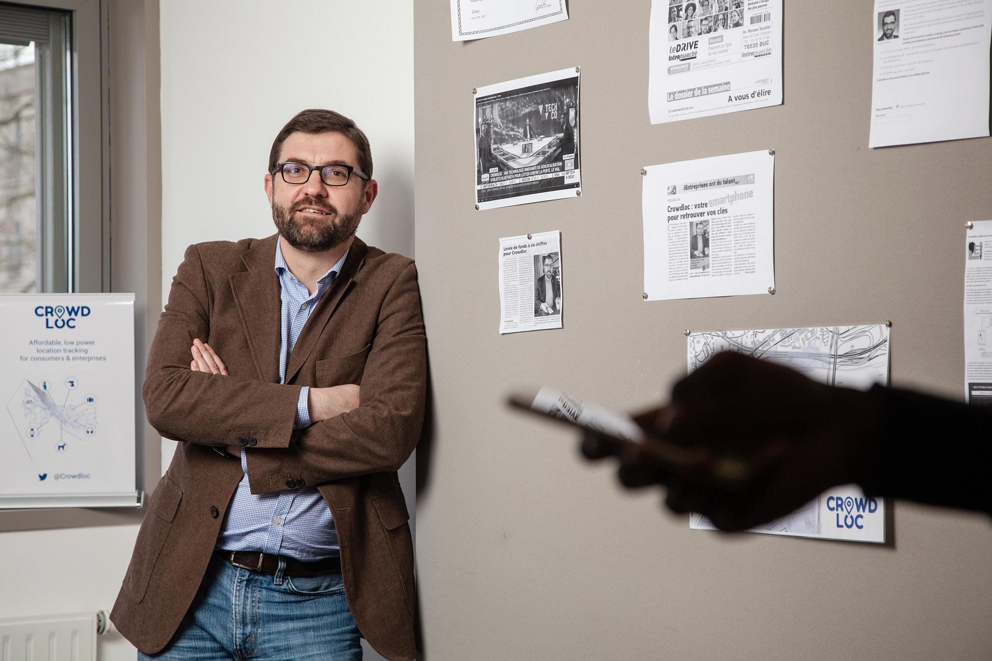 Nicolas Privat, Fondateur de la start-up Corwdloc. Pour Le Point. janvier 2018.