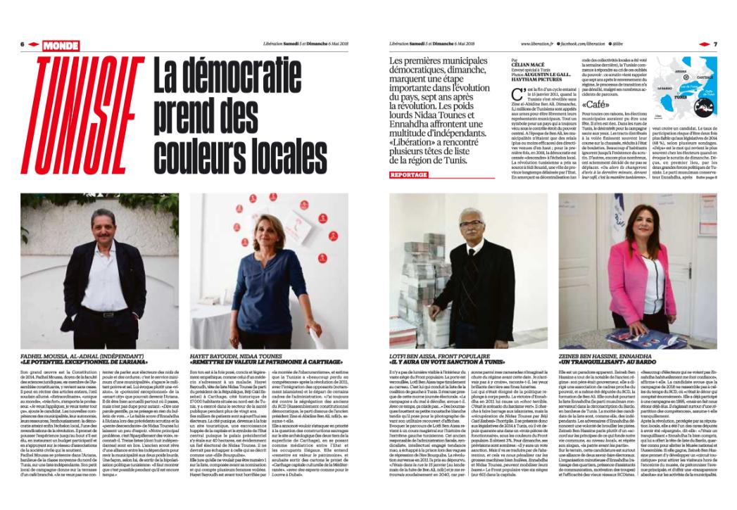 Libération. Mai 2018 / Libération. May 2018