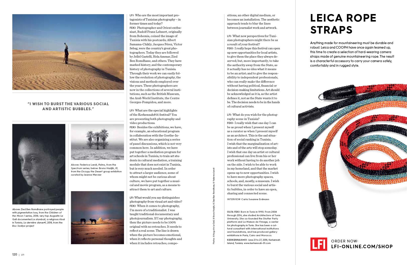 """""""Looking for Saadiya"""" in Leica Magazine. July 2018"""