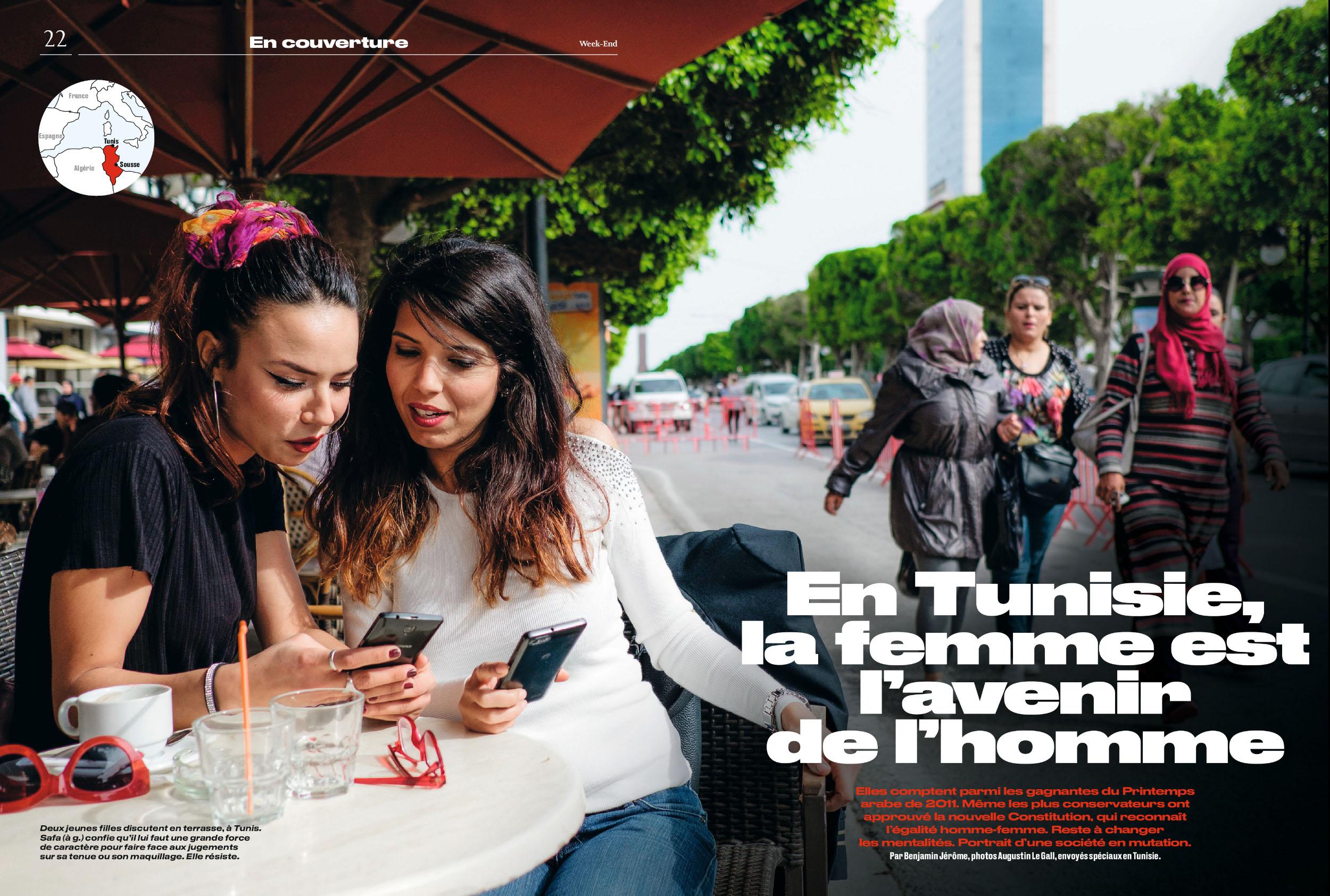 LA TUNISIE AU FEMININ. POUR LE PARISIEN WEEK END. 30 NOVEMBRE 2018
